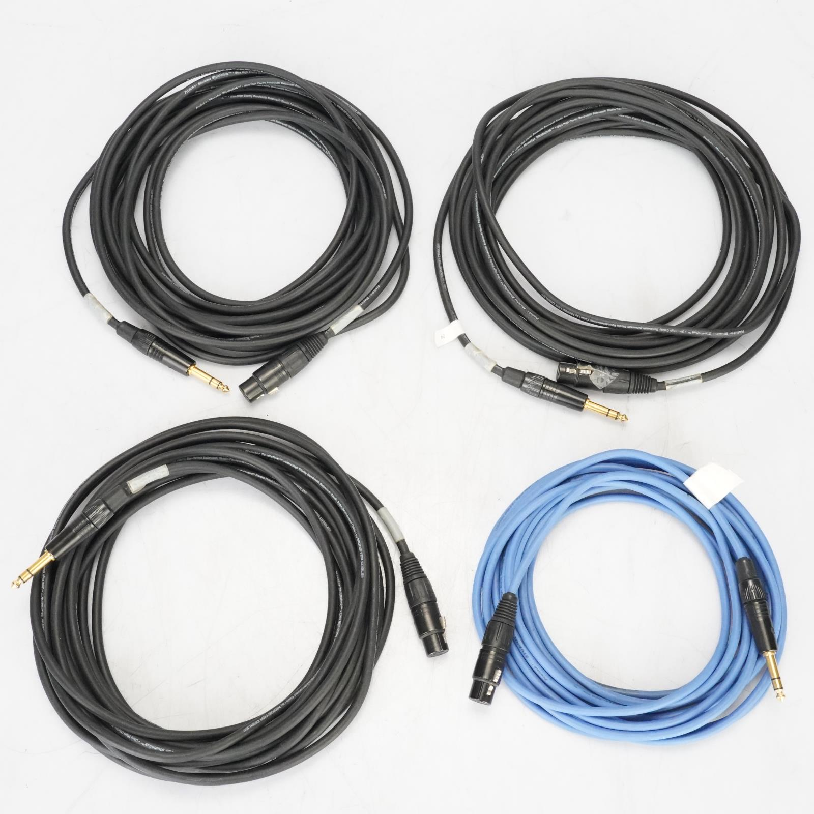 "4 Monster ProLink TRS 1/4"" to XLR Female Cables owned by Ed Cherney #39118"
