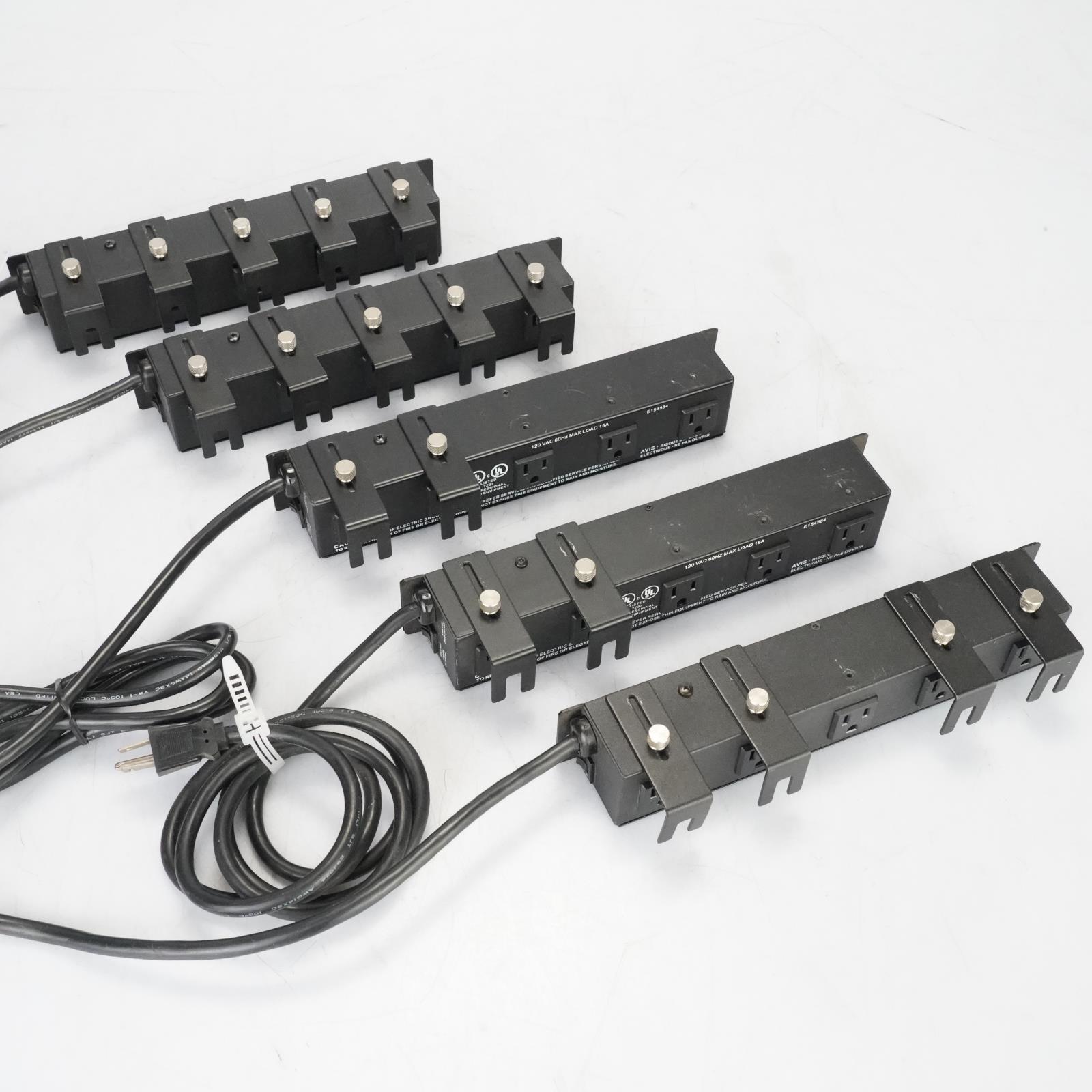 5 Furman PlugLock 5-Outlet 15A Power Strips #38696