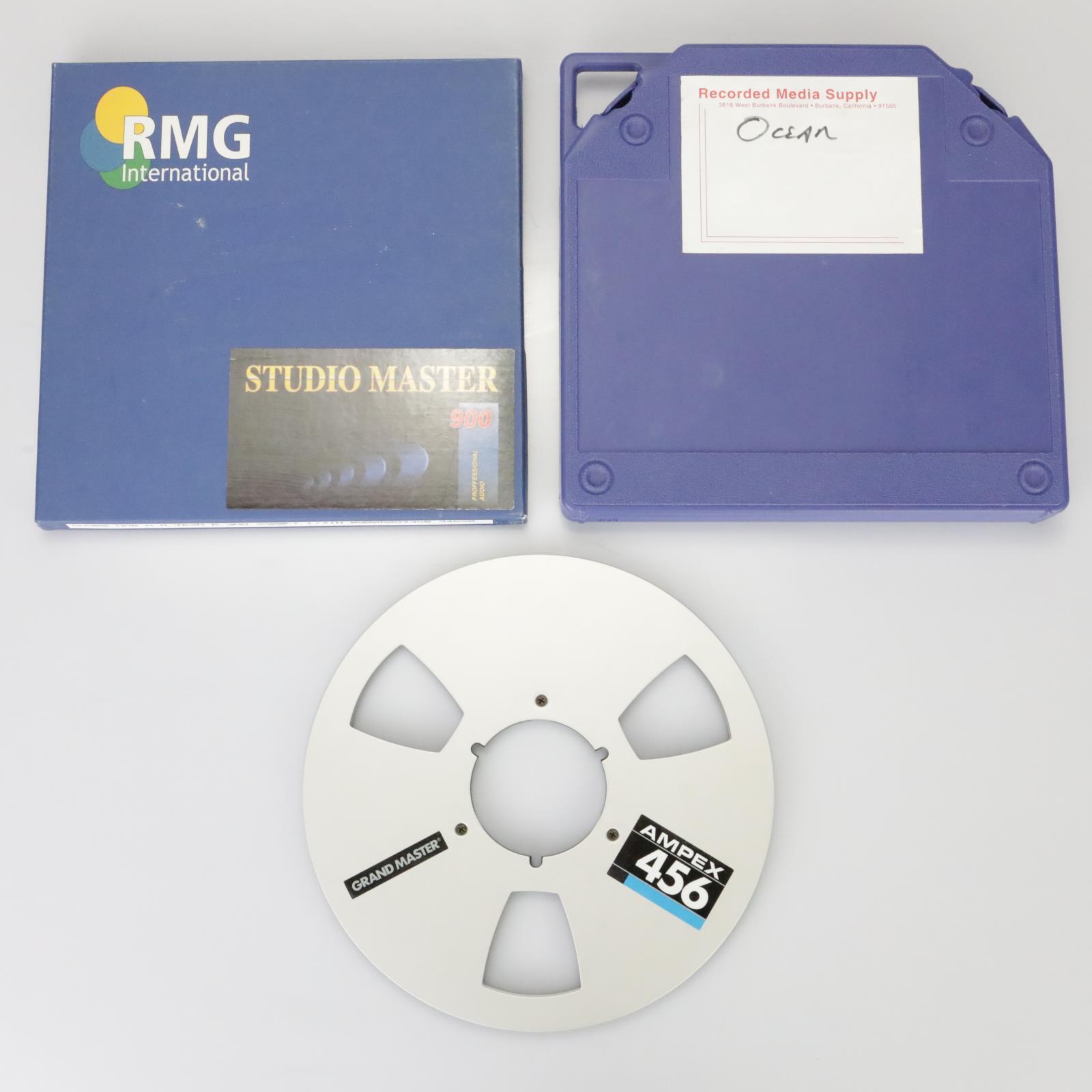 """1/4"""" RMG International Studio Master 900 Analog Tape Reel & 2 Takeup Reel #39173"""