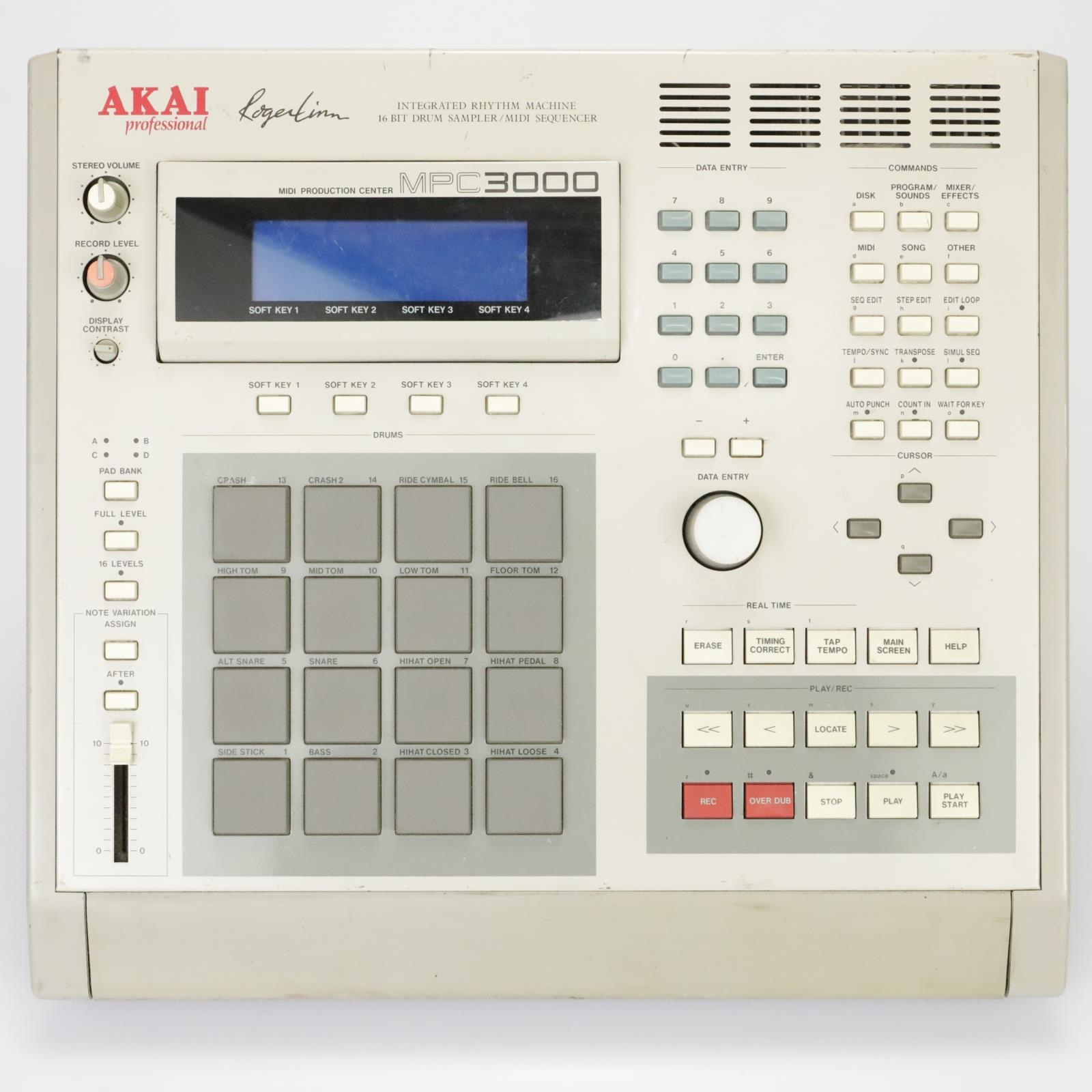 AKAI MPC3000 Roger Linn Drum Sampler Machine w/ Zip Drive, Disks & Case #39145