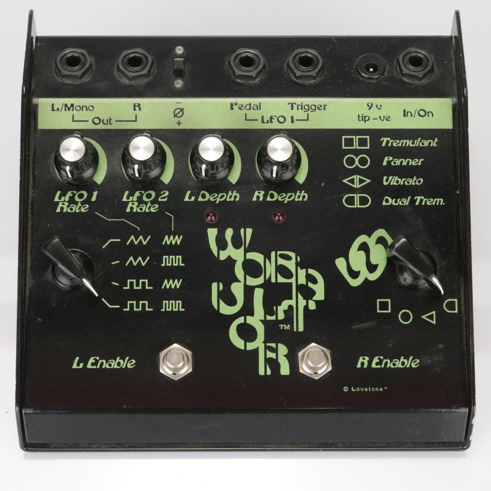 Lovetone Wobulator Dual Tremolo Vibrato Effects Pedal Stompbox #39337
