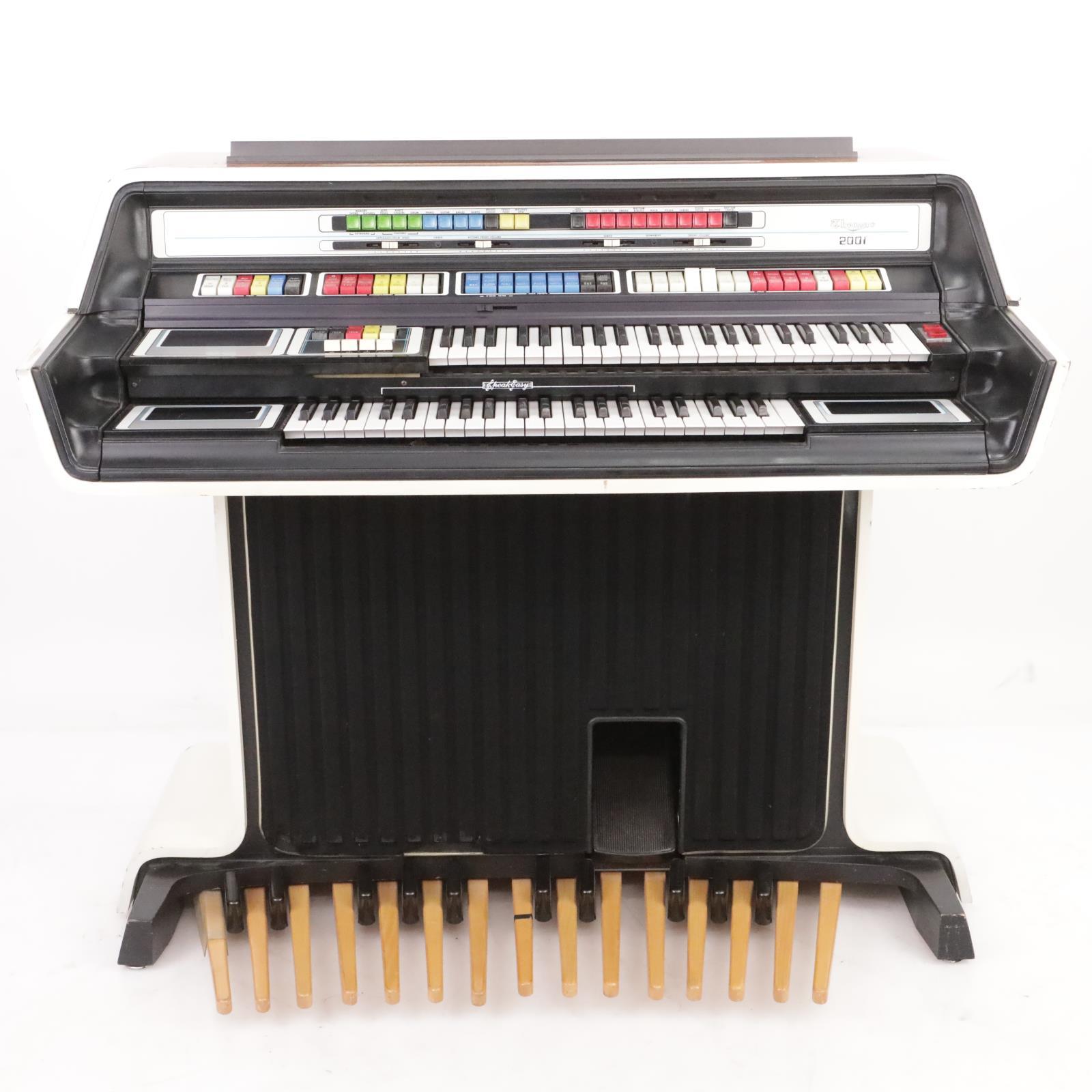 1976 Thomas 2001 2001A5 Organ Keyboard Piano Synthesizer w/ Bench #39390