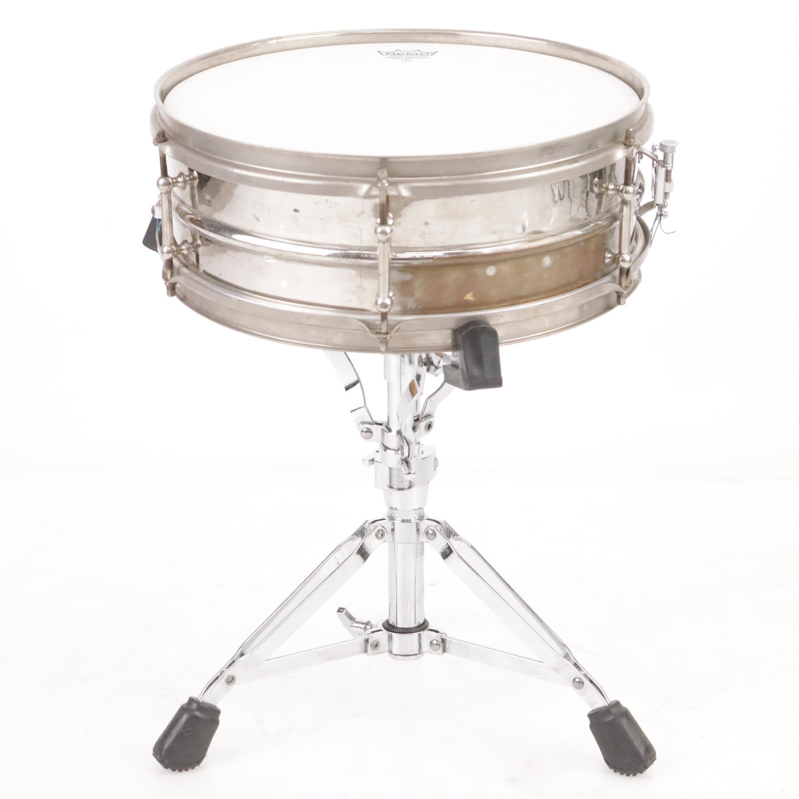 1920's Ludwig Super Ludwig 4.5 x 14 Metal Separate Tension Snare Drum #39524
