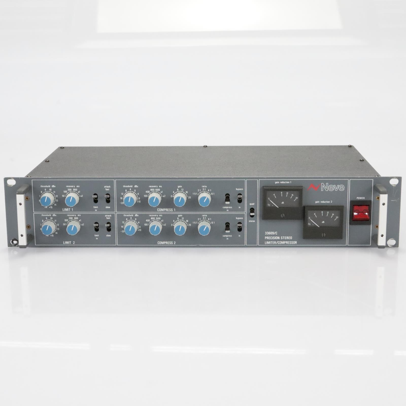 Neve 33609/C Stereo Compressor Limiter Buss Dynamics 33609 C #39222