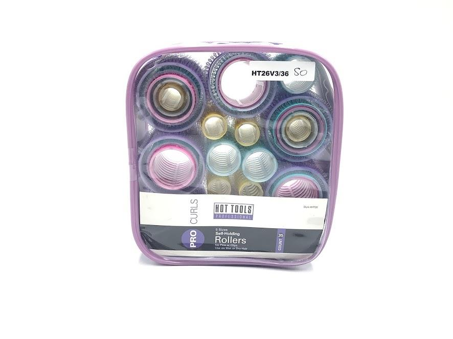 Hot Rollers Professional Set of 35x Self-Holding Hair Roller