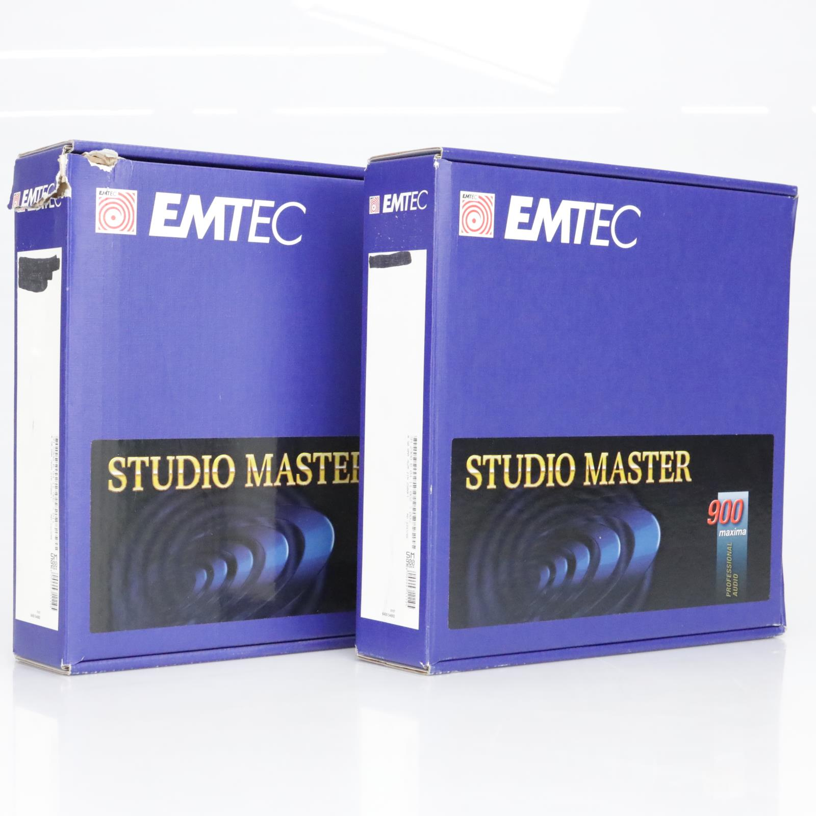 "2 EMTEC Studio Mastering Tape SM 900 Max 2"" 2500' Single Pass NAB Reel #38913"