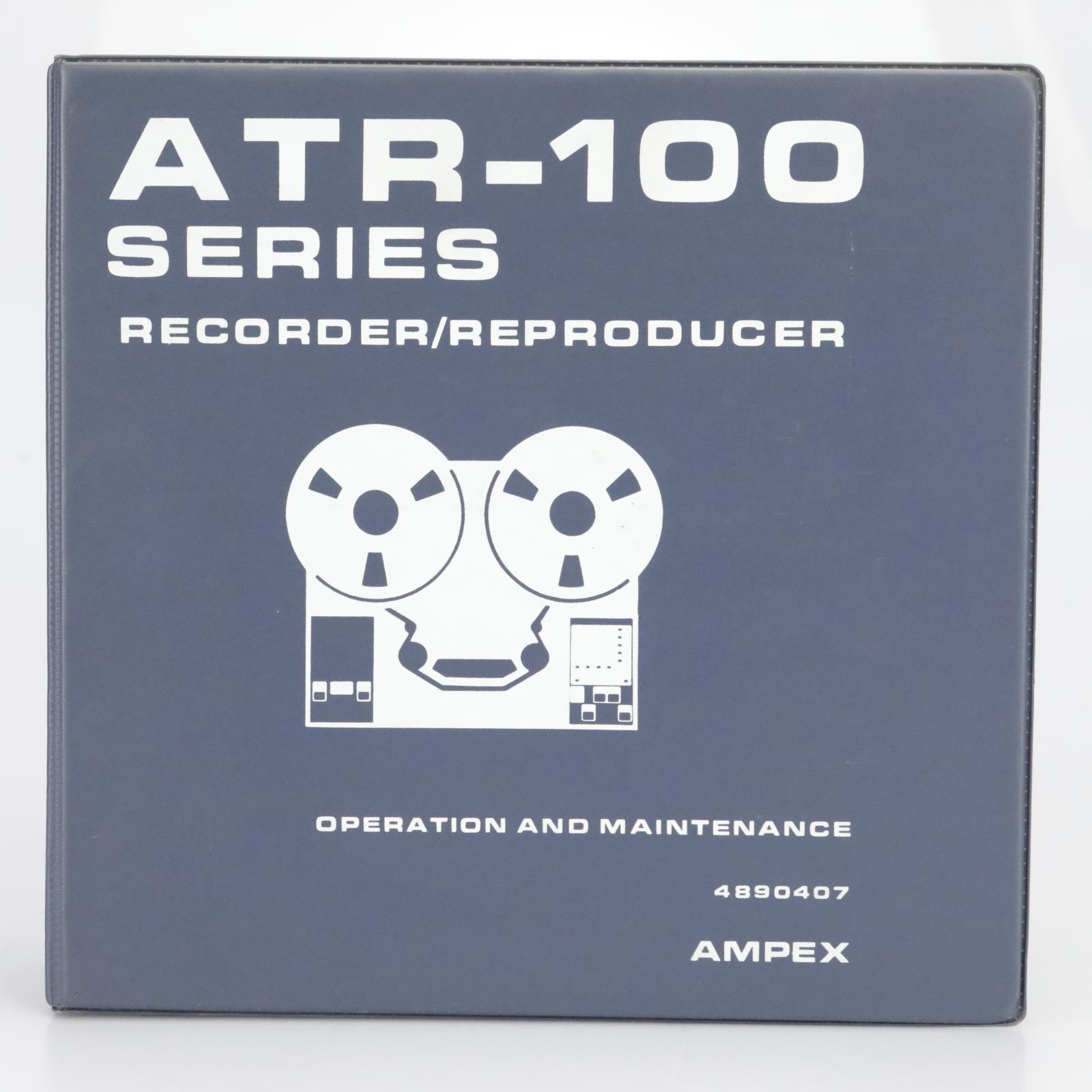 Ampex ATR-100 Series Recorder Operation & Maintenance Manual 102 104 #39685