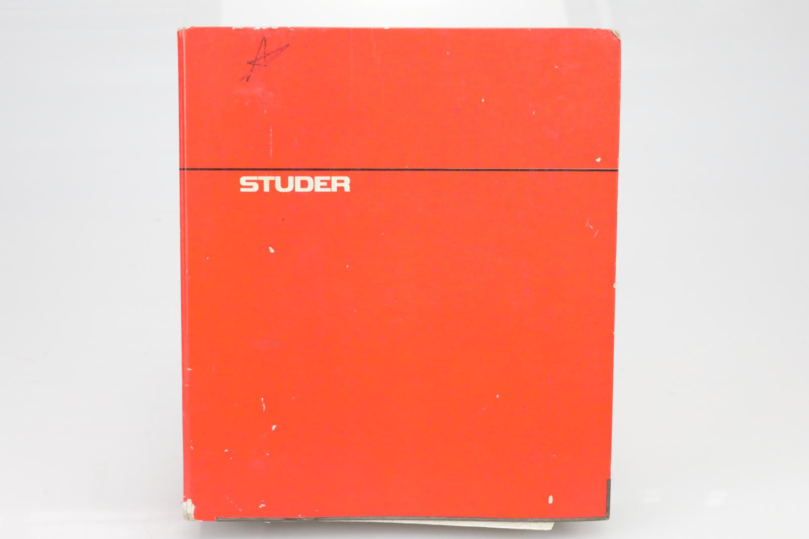 """Studer A800 24 Track 2"""" Tape Machine Original Service Manual #39692"""