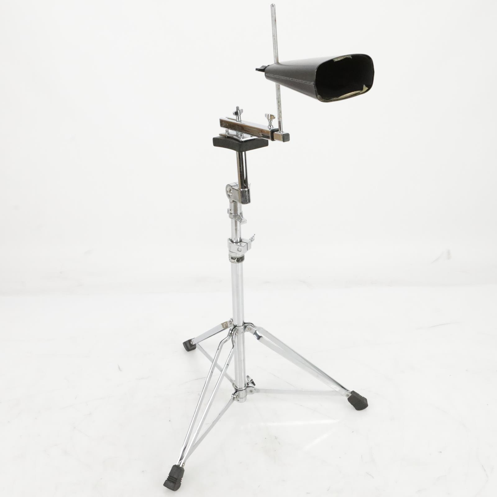 Pearl PT900WS Short Timbale Stand w/ Pearl Large Cowbell #39815