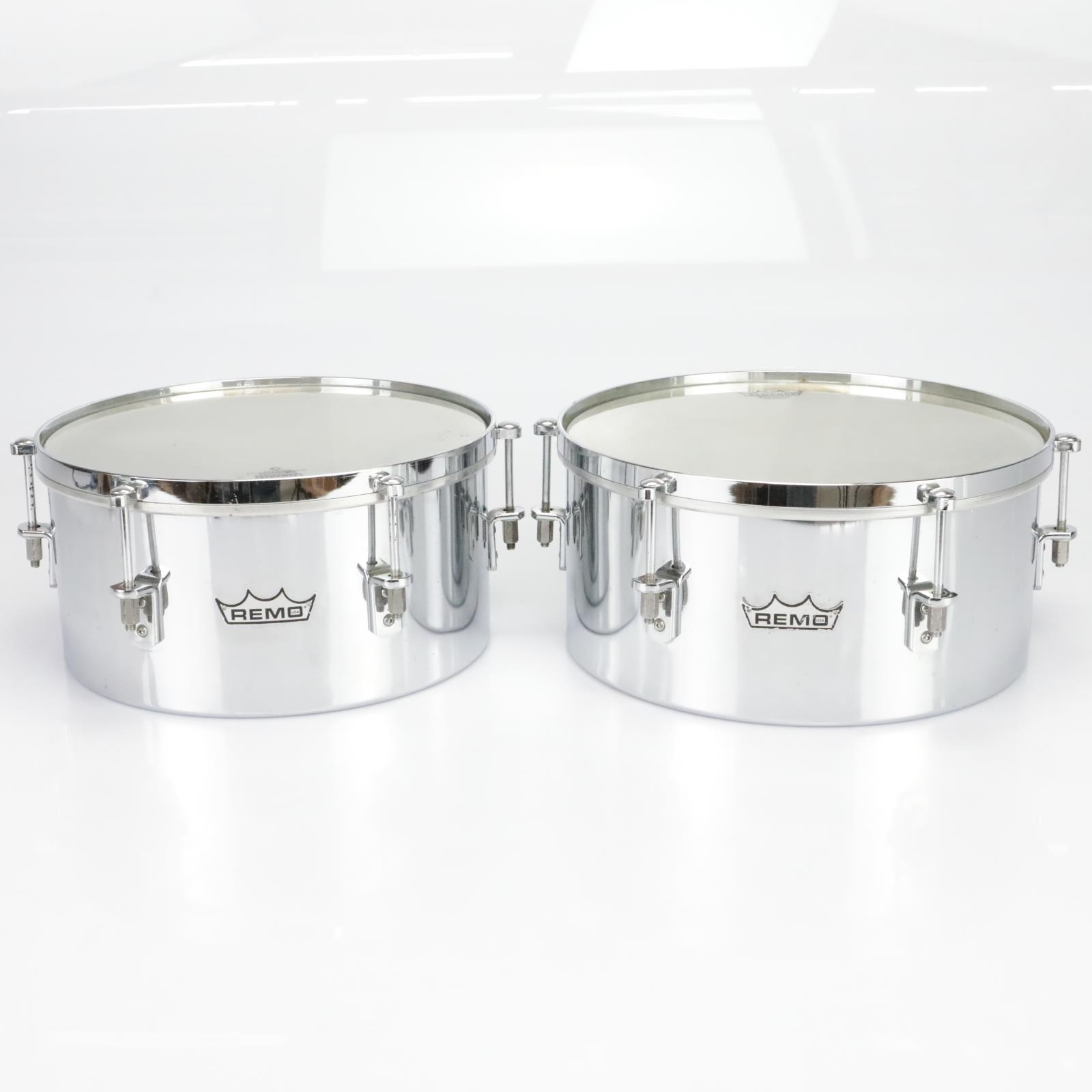 Remo Valencia Timbales Chrome Persussion Drums & ProMark FC3 Sticks #39748