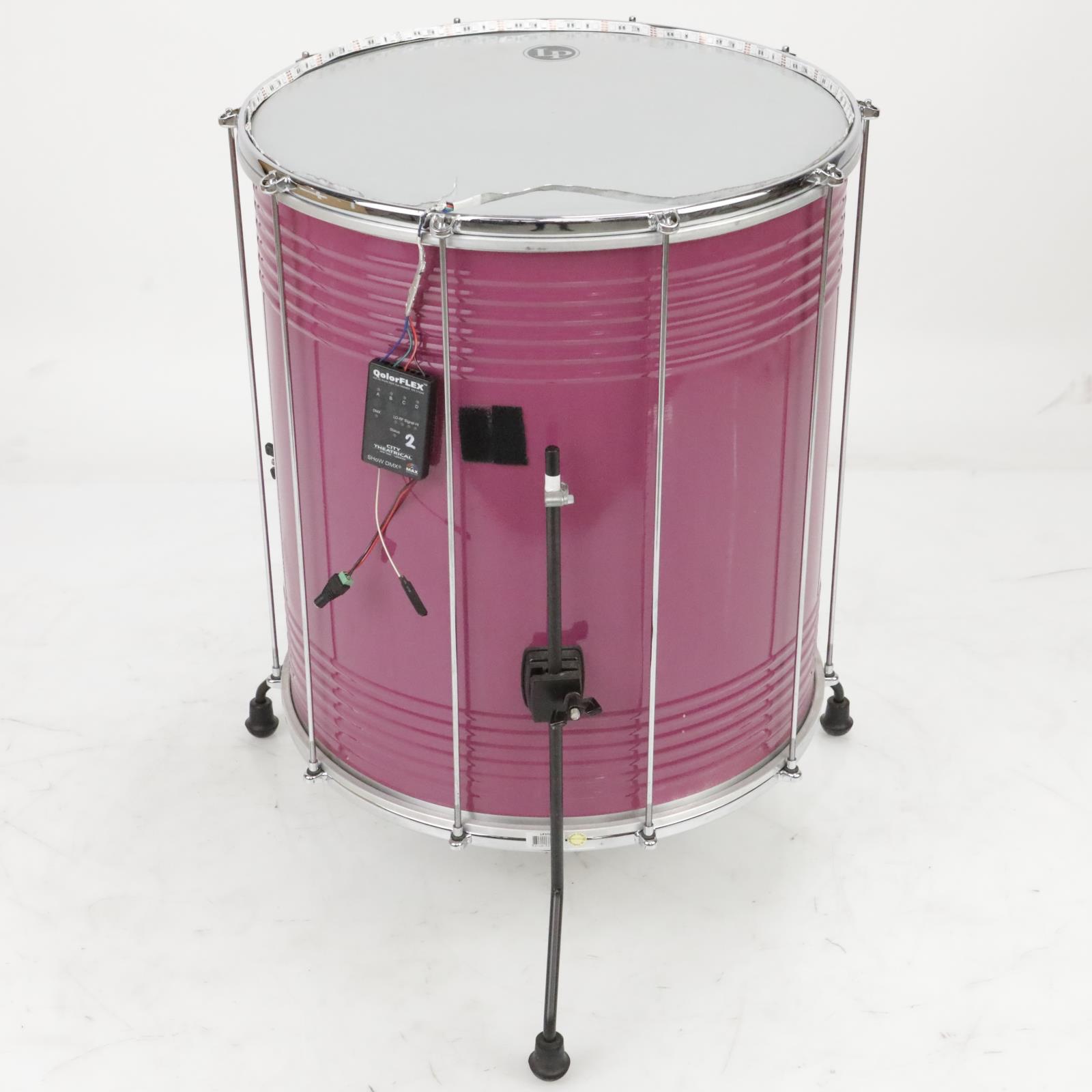 """LP LP3120 22"""" x 20"""" Aluminum Surdo Drums in Custom Purple Shakira #39842"""