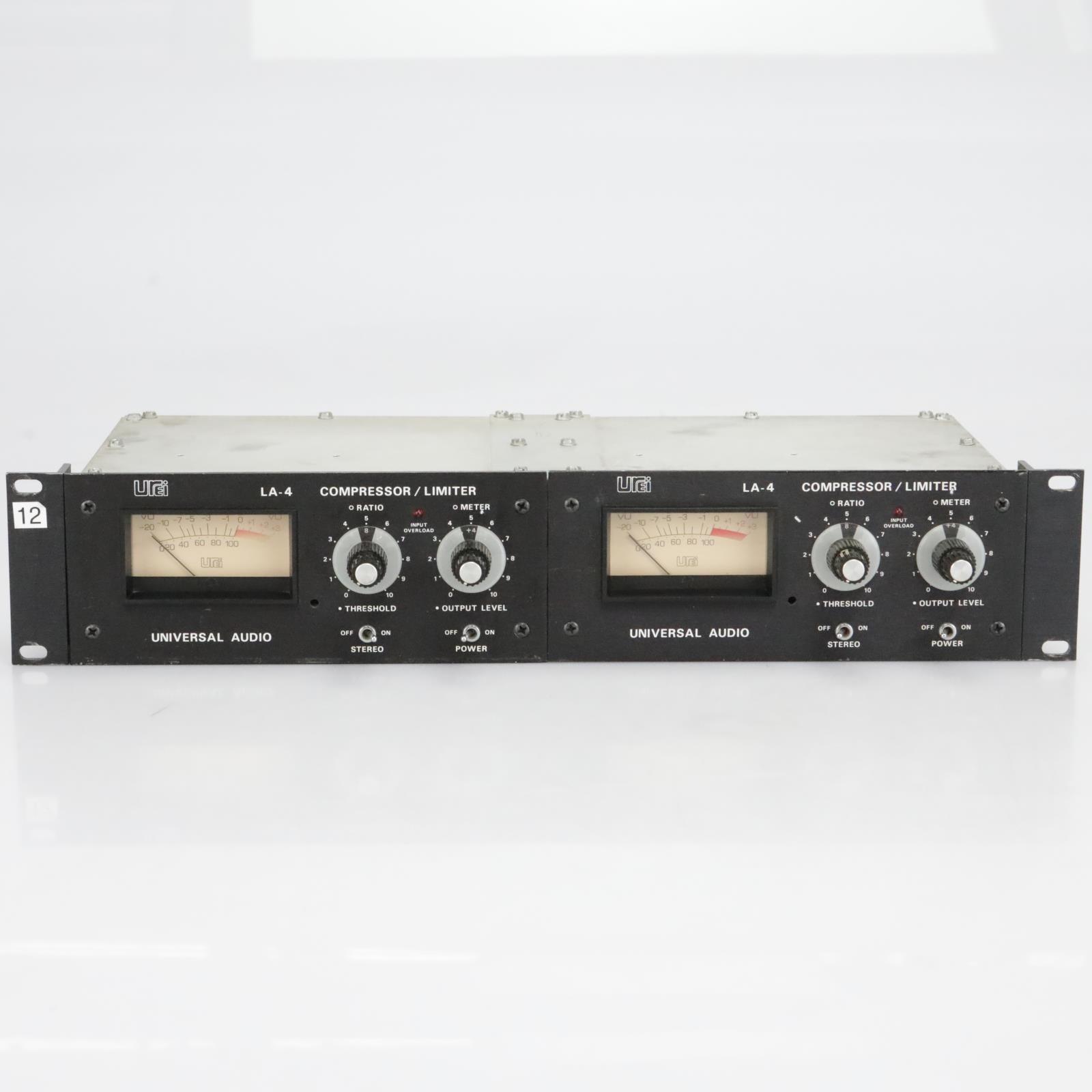 2 Urei Universal Audio LA-4 Compressor / Limiter Rack Mounted #40283