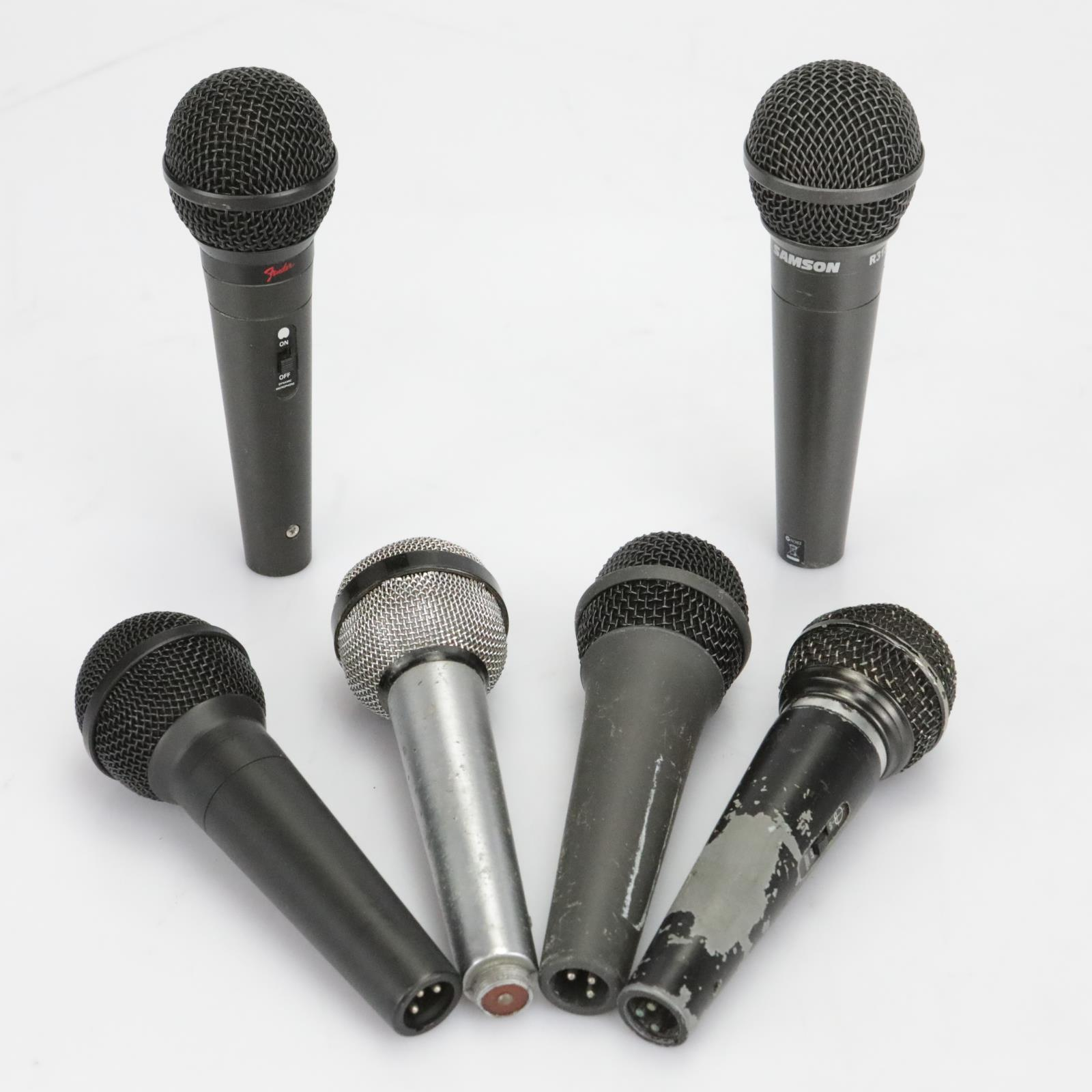 Samson R31S Fender P-51 Plus 4 More Dynamic Microphones Mics #40118