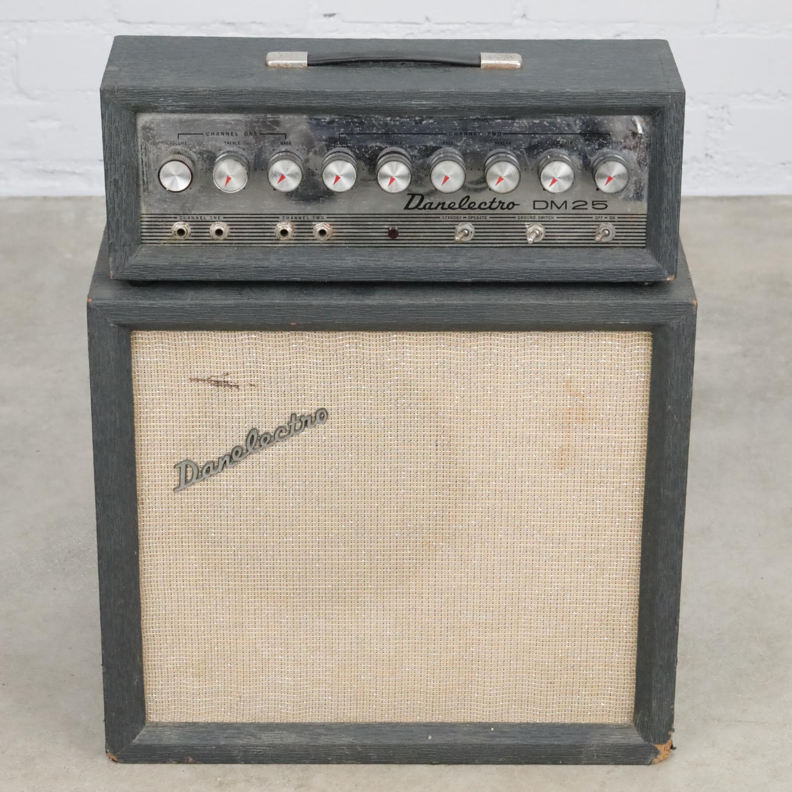 "Danelectro DM25 Guitar Tube Amplifier Amp & Cabinet 12"" Jensen Speaker #40333"