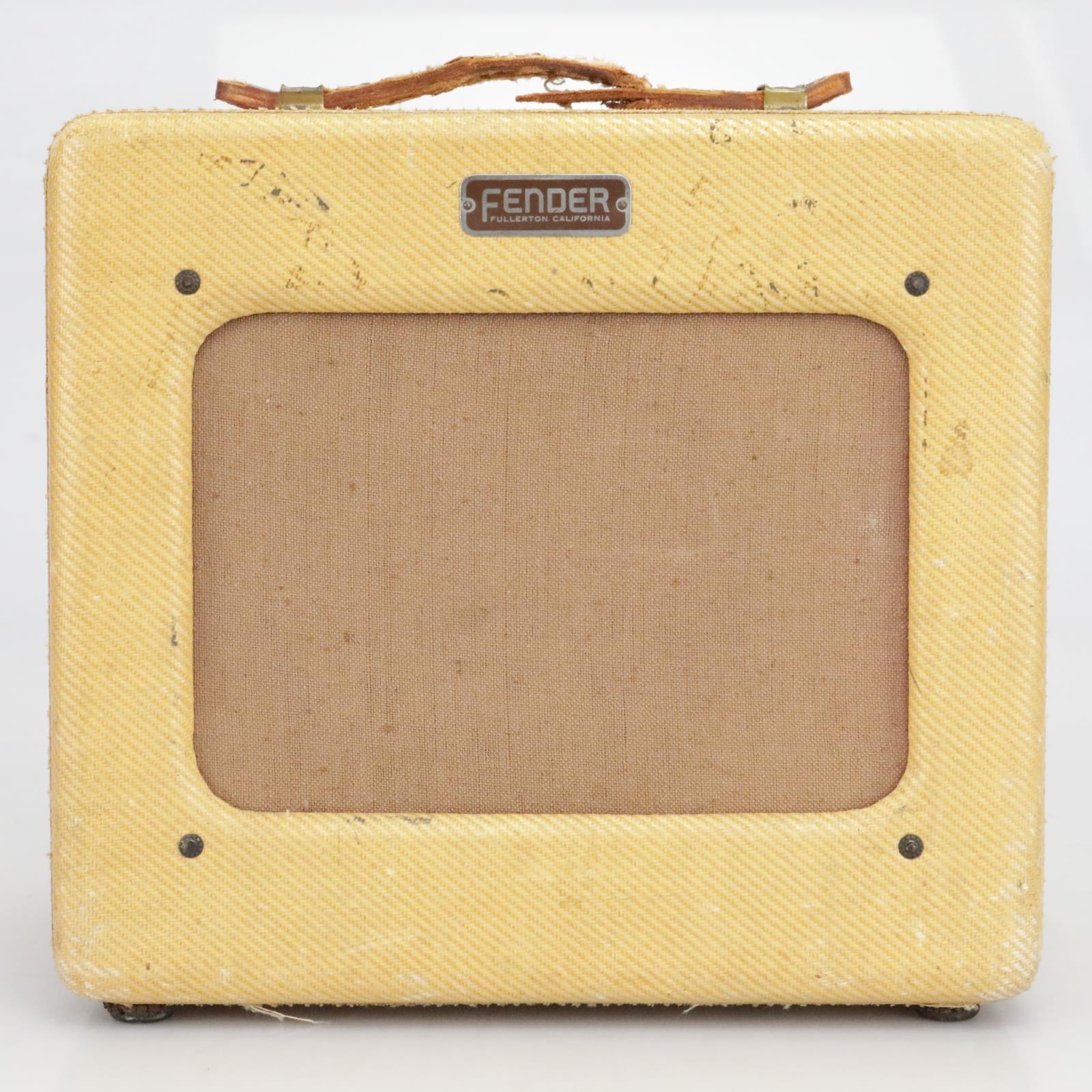 "1950 Fender Princeton Tweed 4W Tube Combo Amplifier 8"" Jensen TV Front #40375"