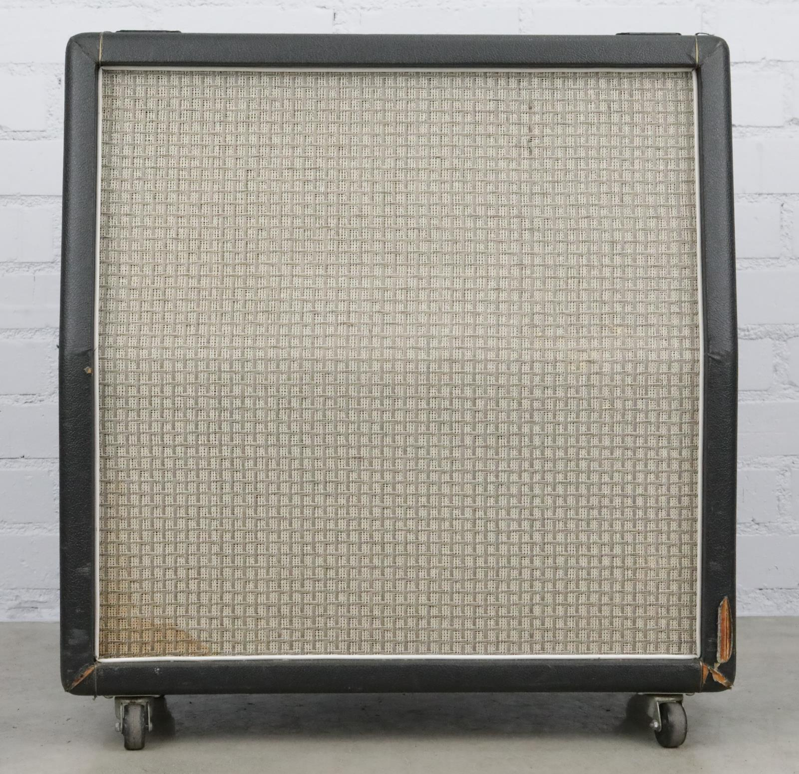 1972 Marshall Large Check 4x12 Slant Cabinet w/ G12-65 Speakers #40429