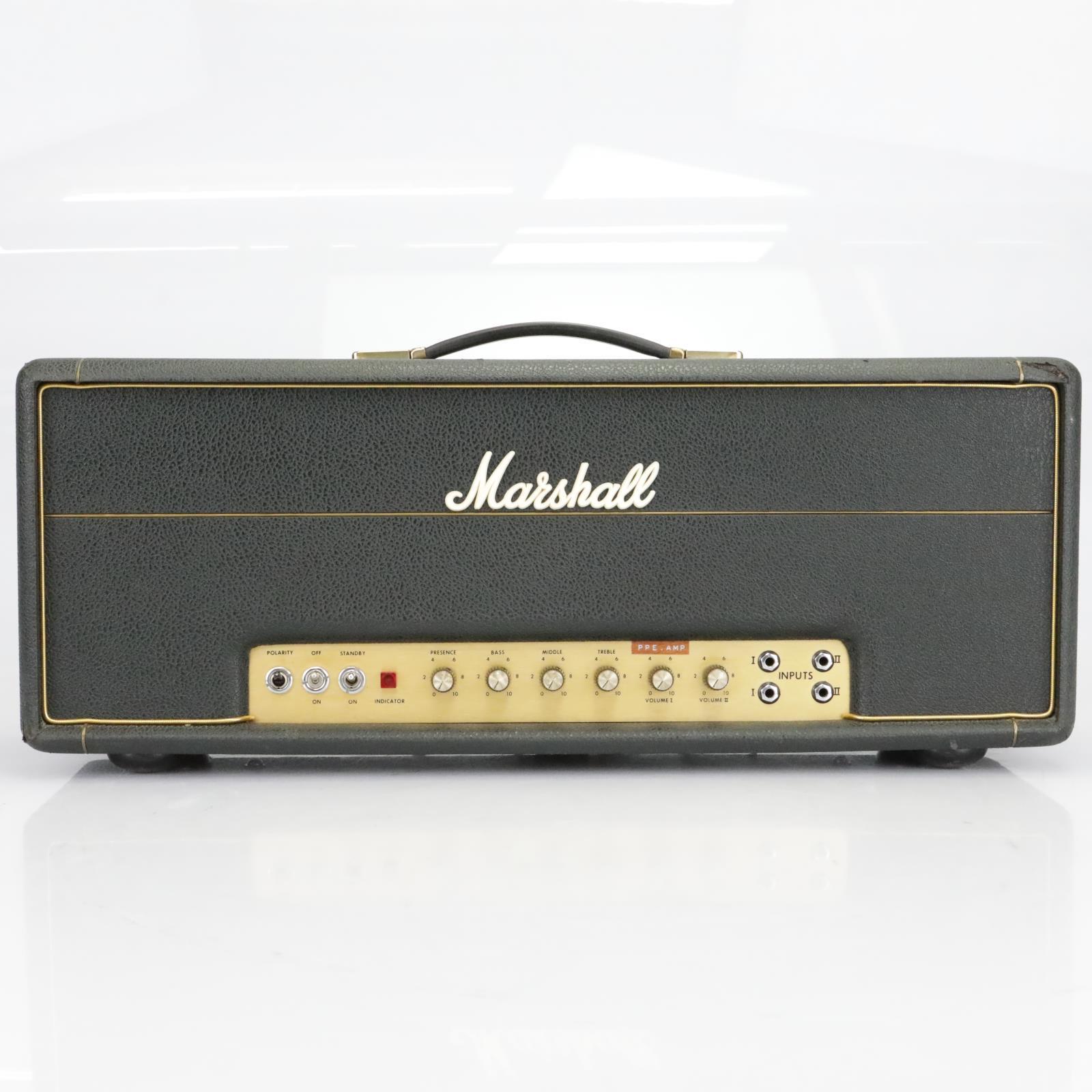 1972 Marshall 50w Lead 4 Input Hand-Wired Guitar Tube Amp Head #40453