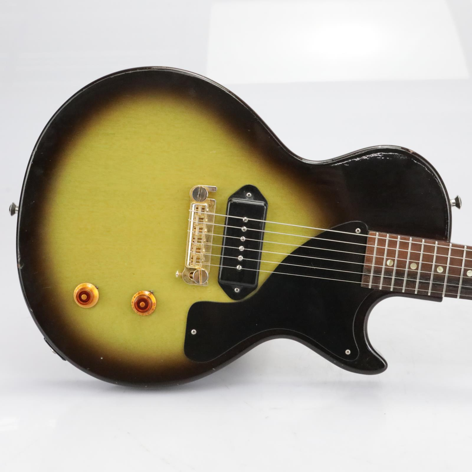 1956 Gibson Les Paul Junior LP Jr Tobacco Burst Refin #40154