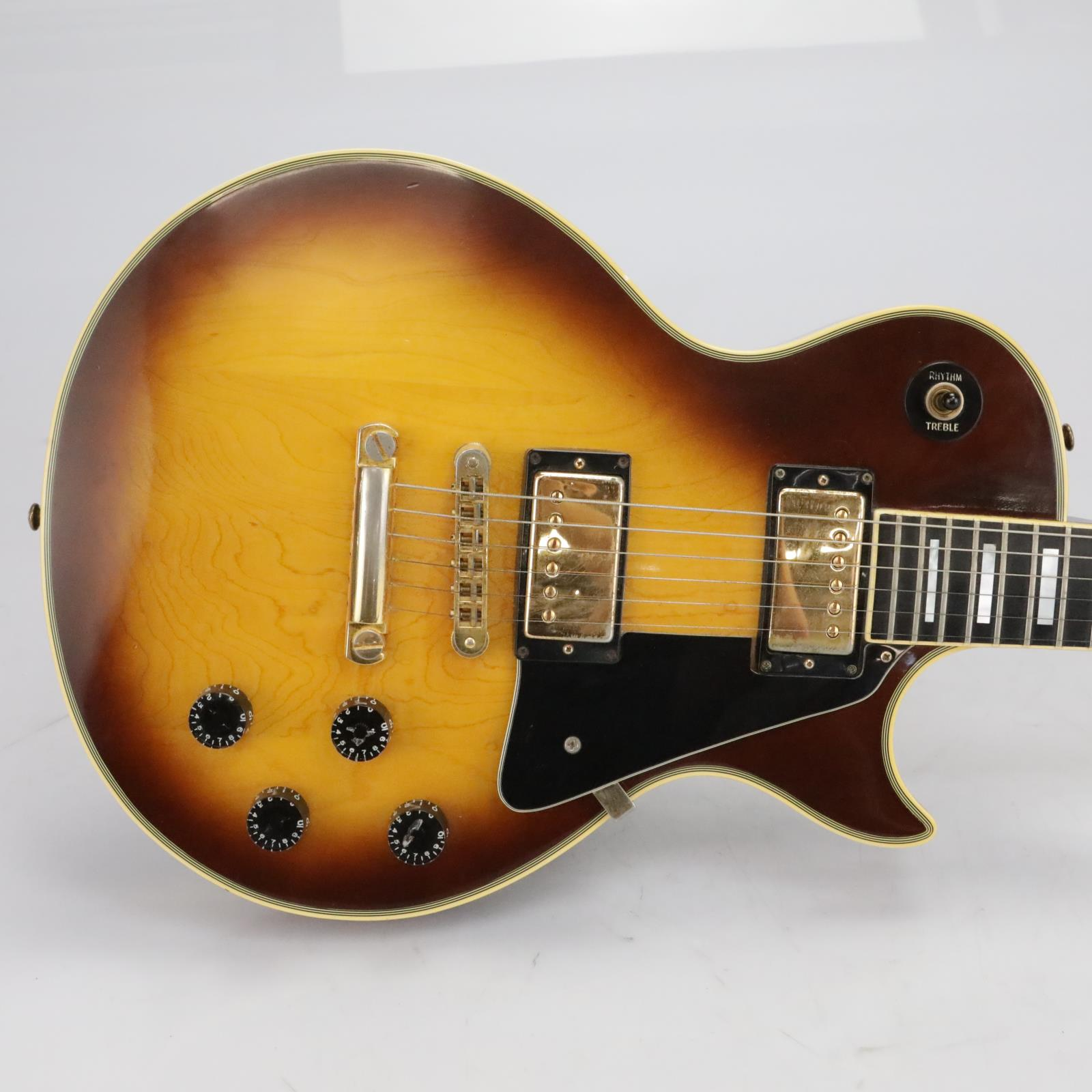 1979 Gibson Les Paul Custom Electric Guitar Tobacco Burst Gold Hardware #40500