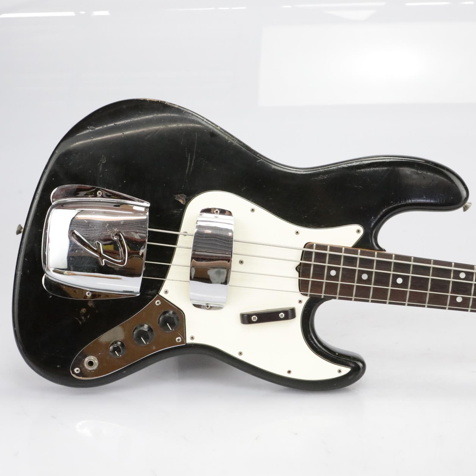 1964 Fender Jazz Bass Guitar Black Refinish #40189