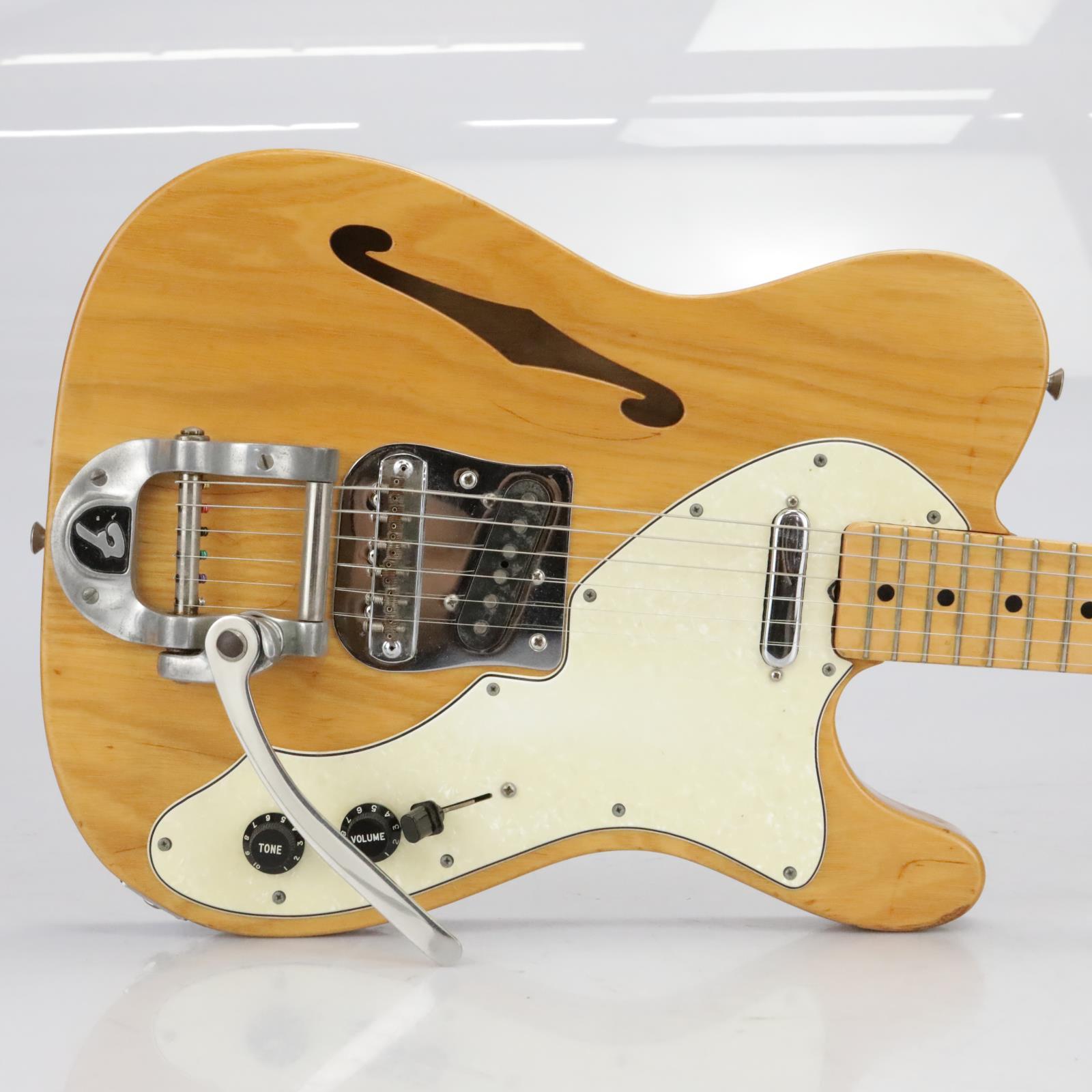 1970 Fender Telecaster Thinline Natural Tele w/ Bigsby Tremolo #40185