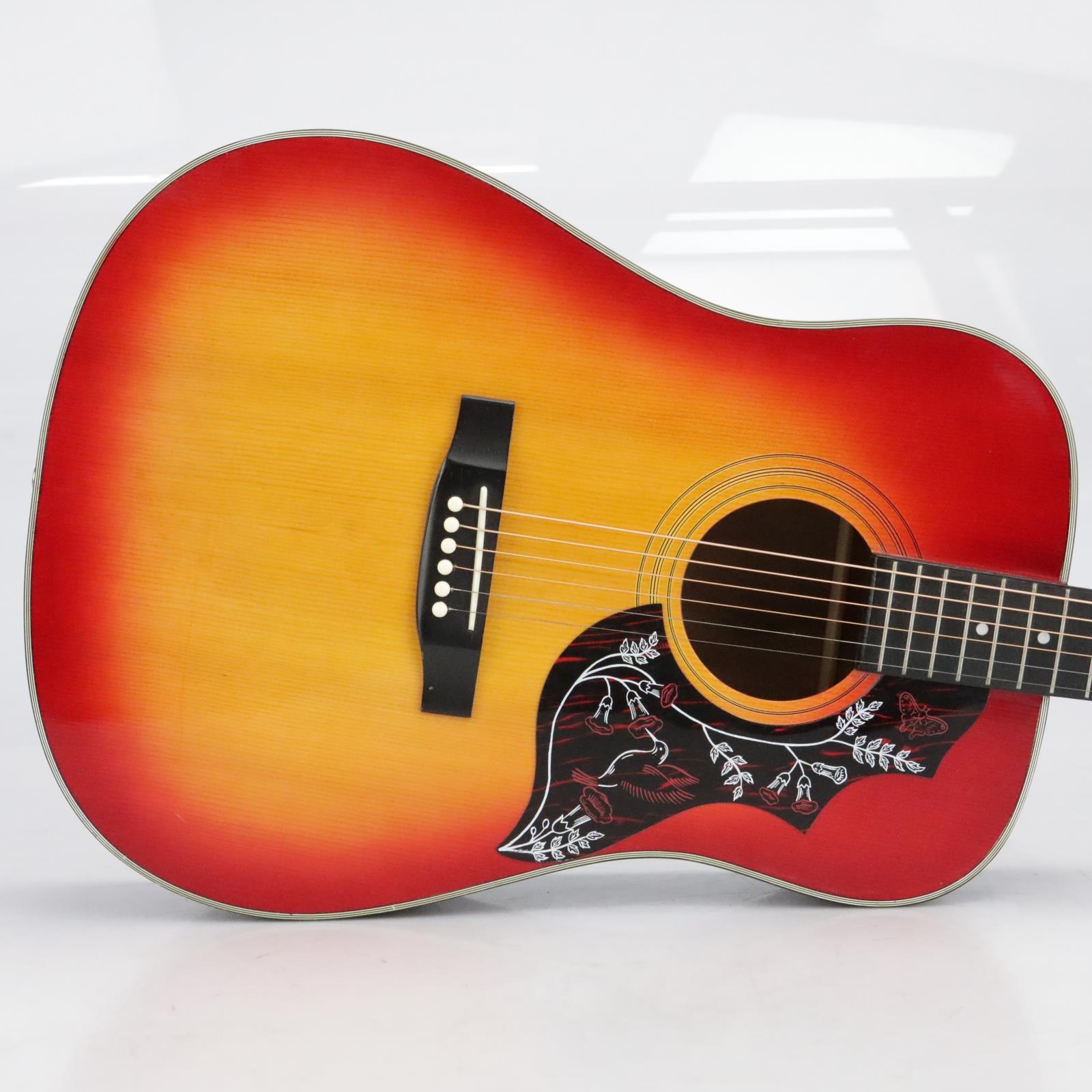 Synsonics Hummingbird Acoustic Guitar Sunburst w/ Hard Shell Case #40768