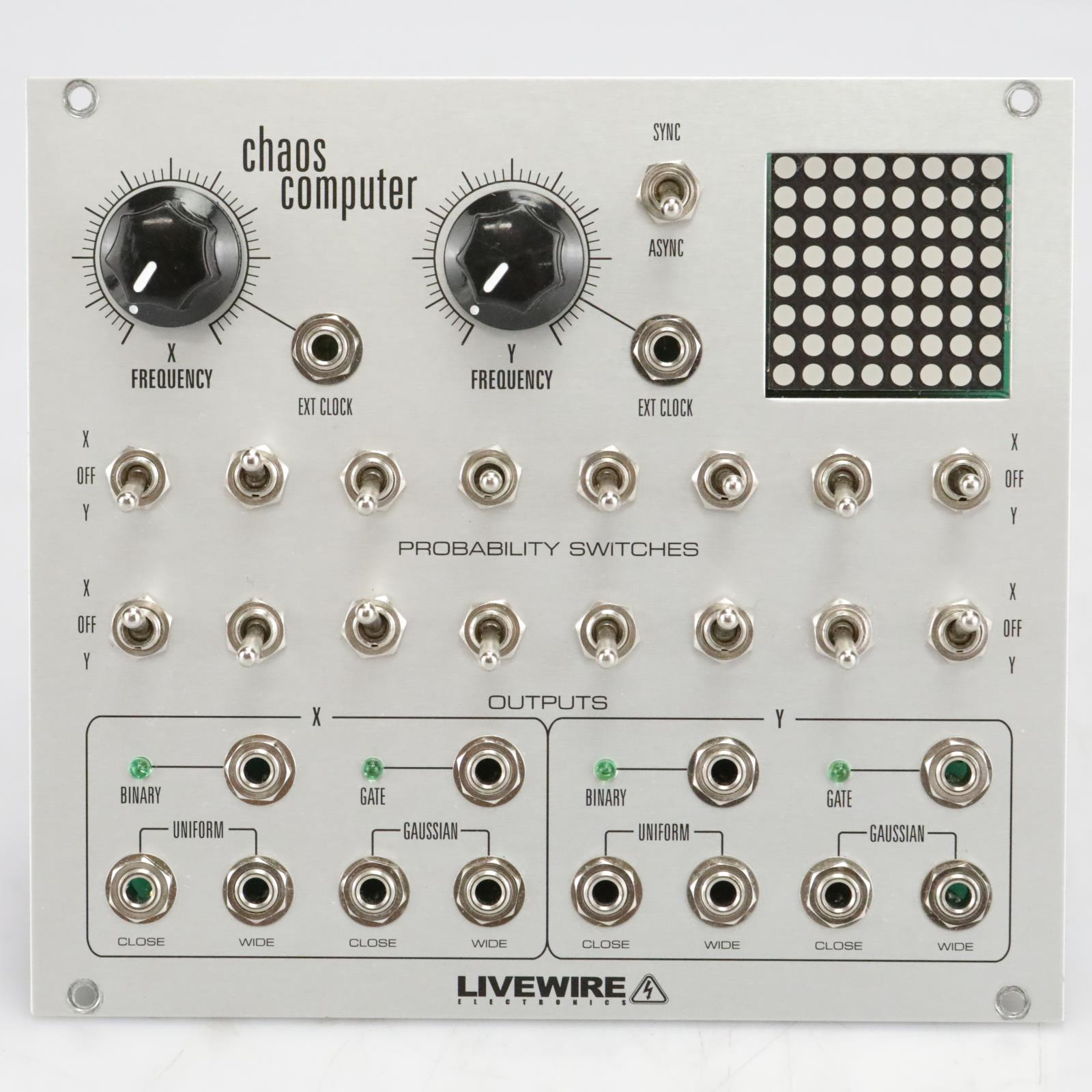 Livewire Chaos Computer Voltage Generator Eurorack Synthesizer Module #40908