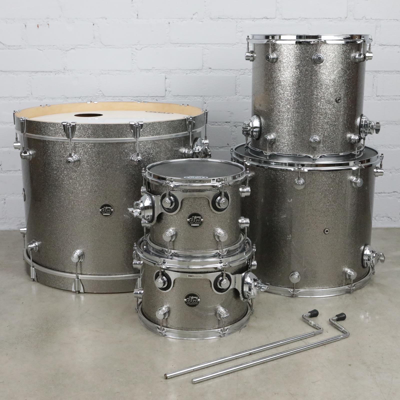 "DW Performance Series 5pc Titanium Sparkle Drum Kit 24"" 18"" 14"" 12"" 10"" #41056"