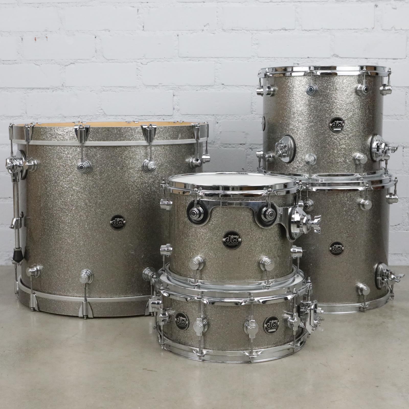 "DW Performance Series 5 Piece Titanium Sparkle Drum Kit  22"" 16"" 14"" 12"" #41059"