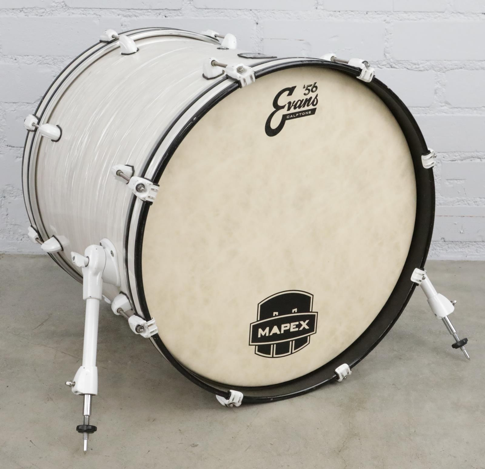 "Mapex MyDentity 20"" x 18"" Kick Bass Drum White Ripple Pearl #41073"