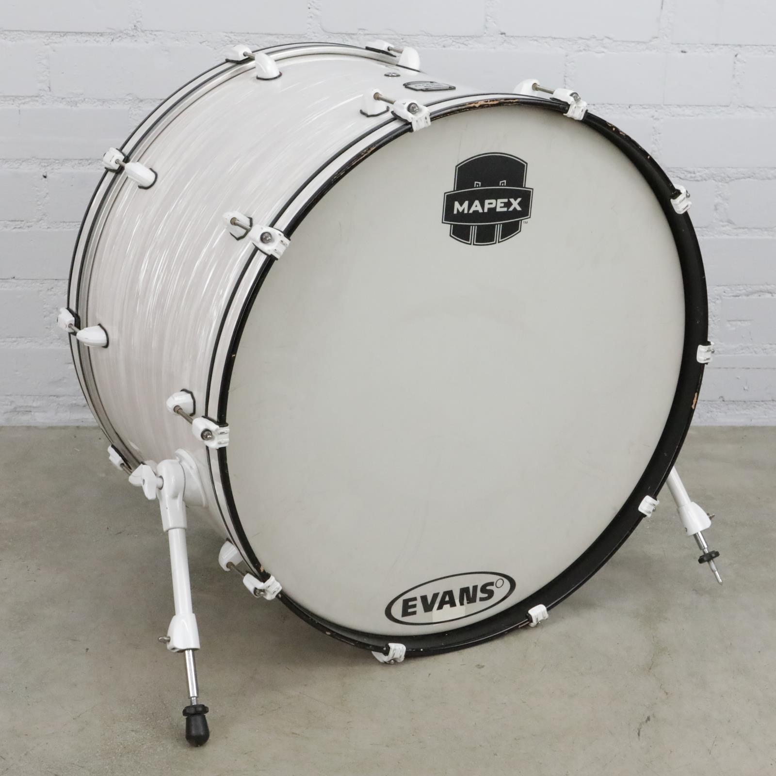 "26"" x 16"" Mapex MyDentity Kick Bass Drum Pearl Ripple White #41081"