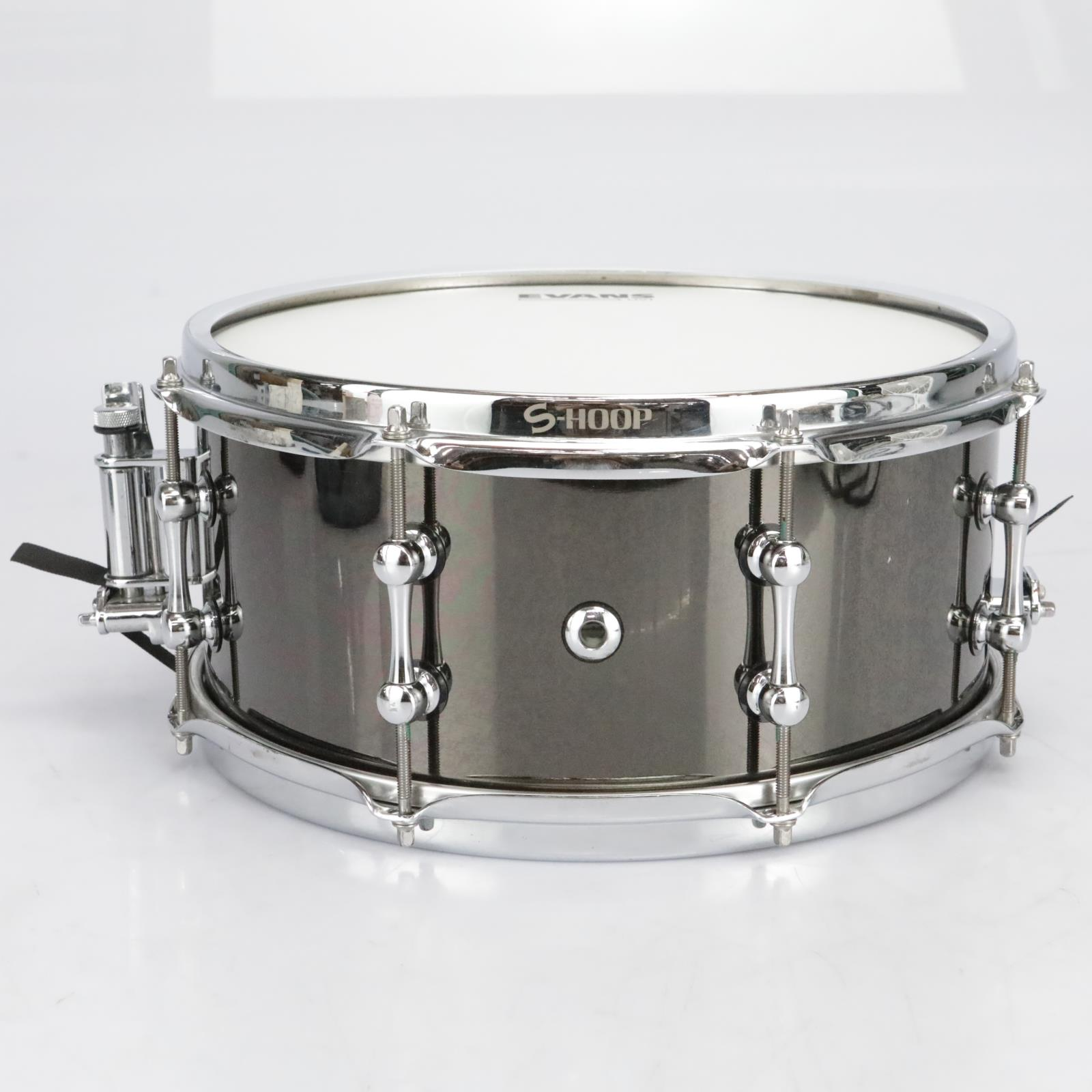 """Ahead 13"""" x 6"""" Black Chrome on Brass Snare Drum #41064"""
