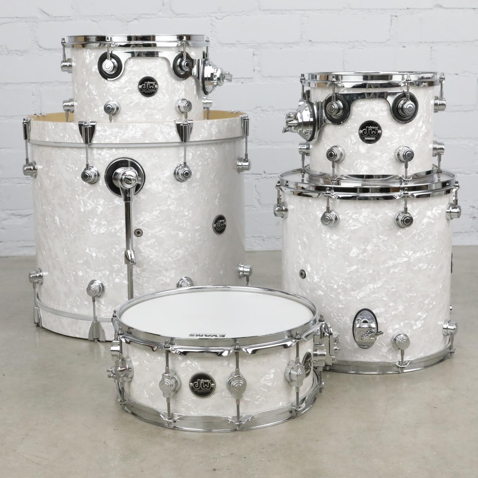 "DW Performance Series 5 Piece White Marine Drum Set 20"" 14"" 12"" 10"" #41049"