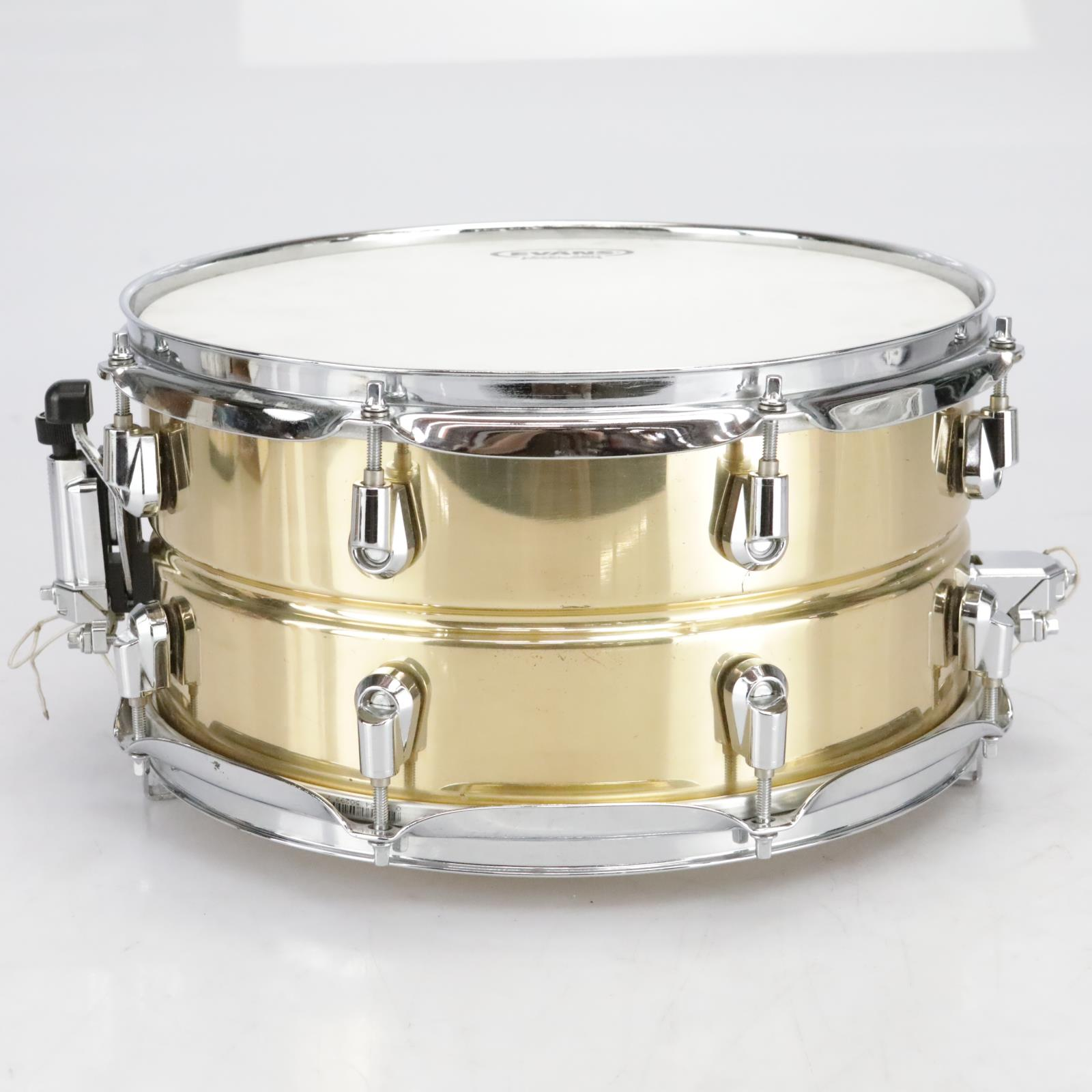 """Yamaha SD-4365 Brass Snare Drum 13"""" X 6.5"""" Made in Japan #41043"""
