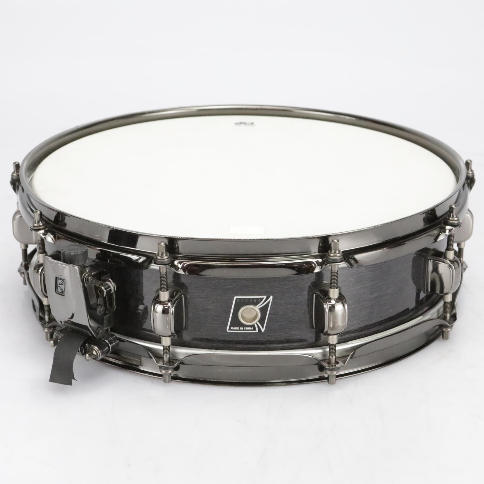 """Tama Piccolo Snare Drum Brushed Steel Satin Black 14"""" X 4"""" #41047"""