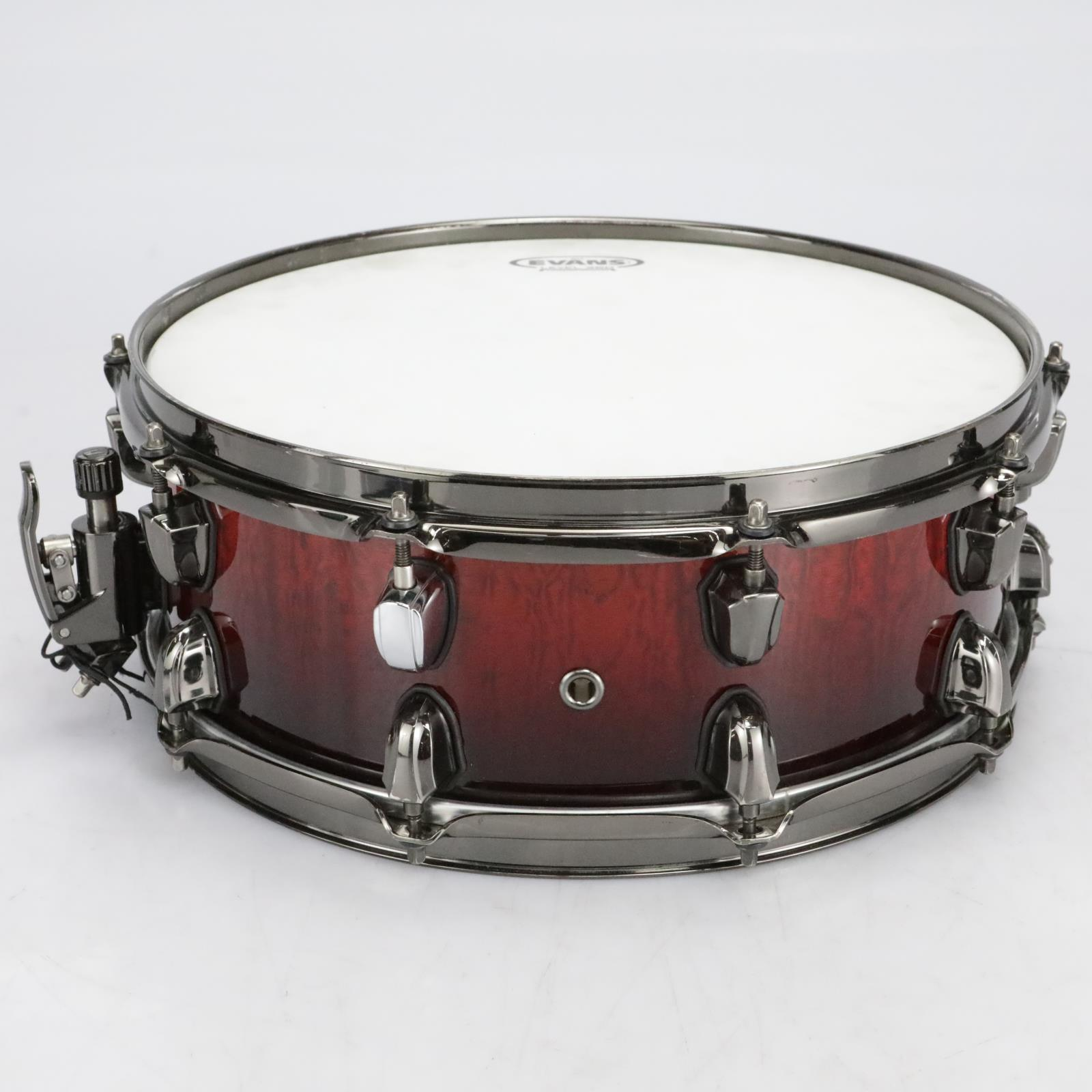 "Mapex Saturn MH Exotic Series 14"" x 5.5"" Snare Drum Maple Cherry Mist #41070"