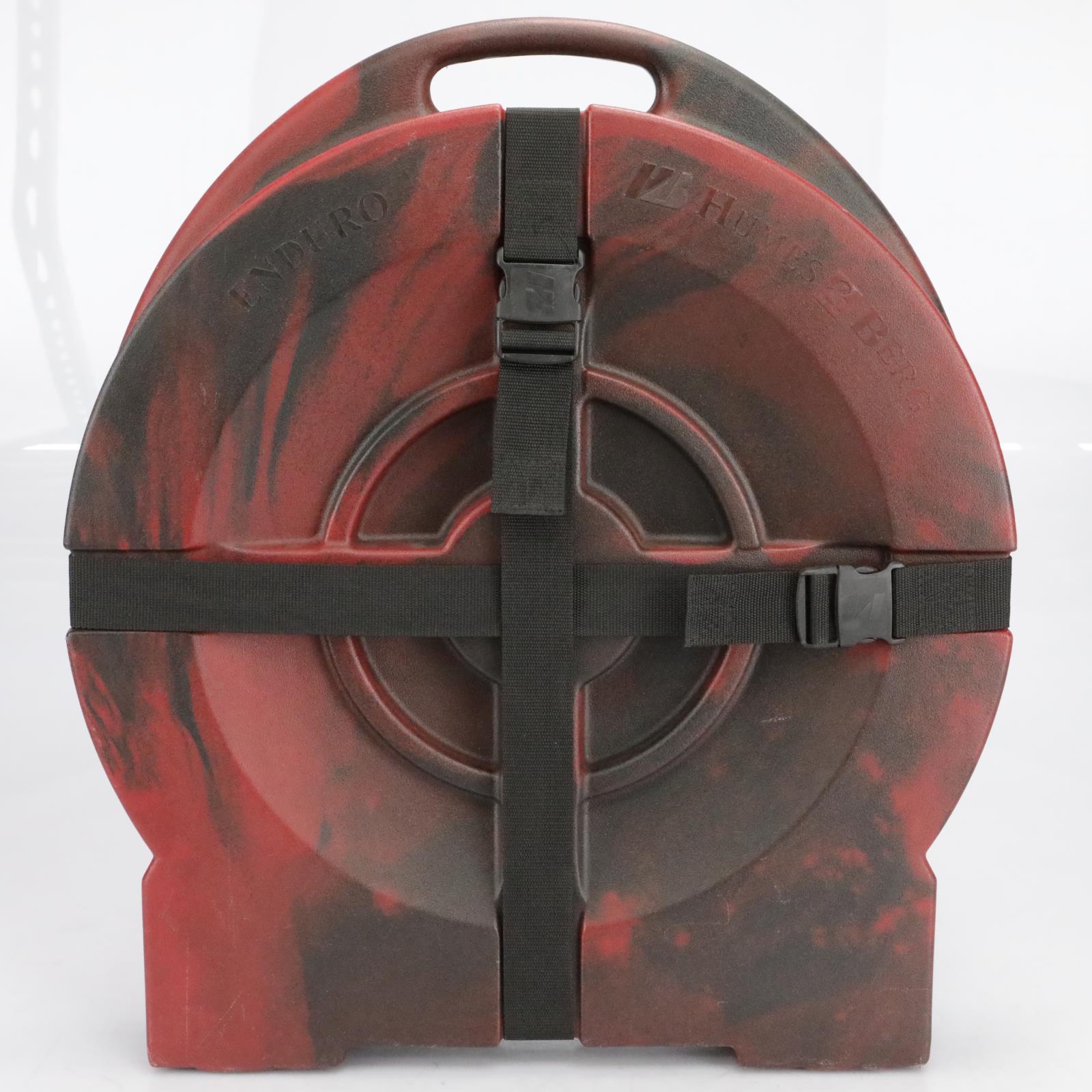 "Humes & Berg Enduro Tilt-n-Pull 24"" Cymbal Hard Case Active Burn Red #41034"