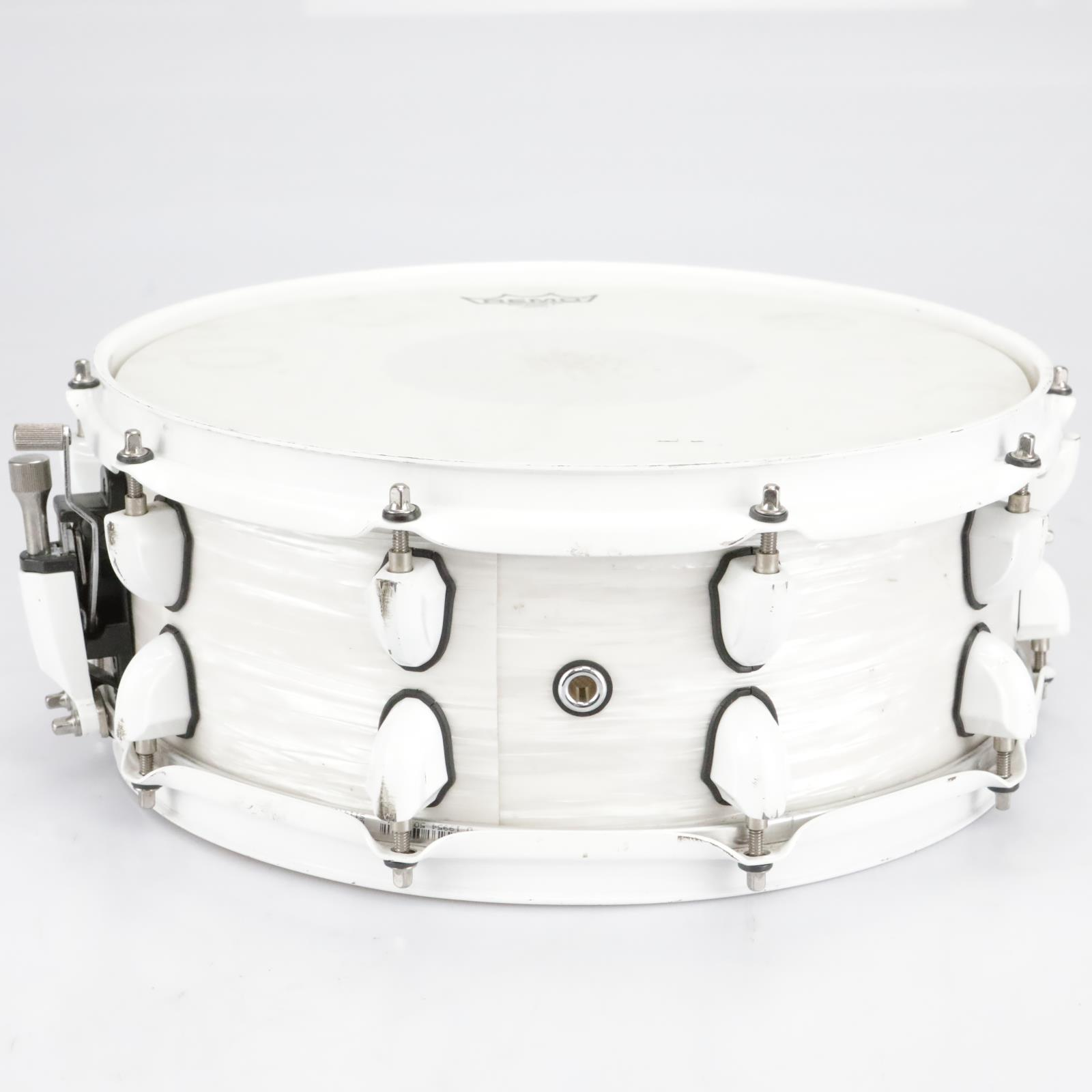 """Mapex Mydentity Series 14"""" x 5"""" White Ribbon Pearl Snare Drum #41112"""