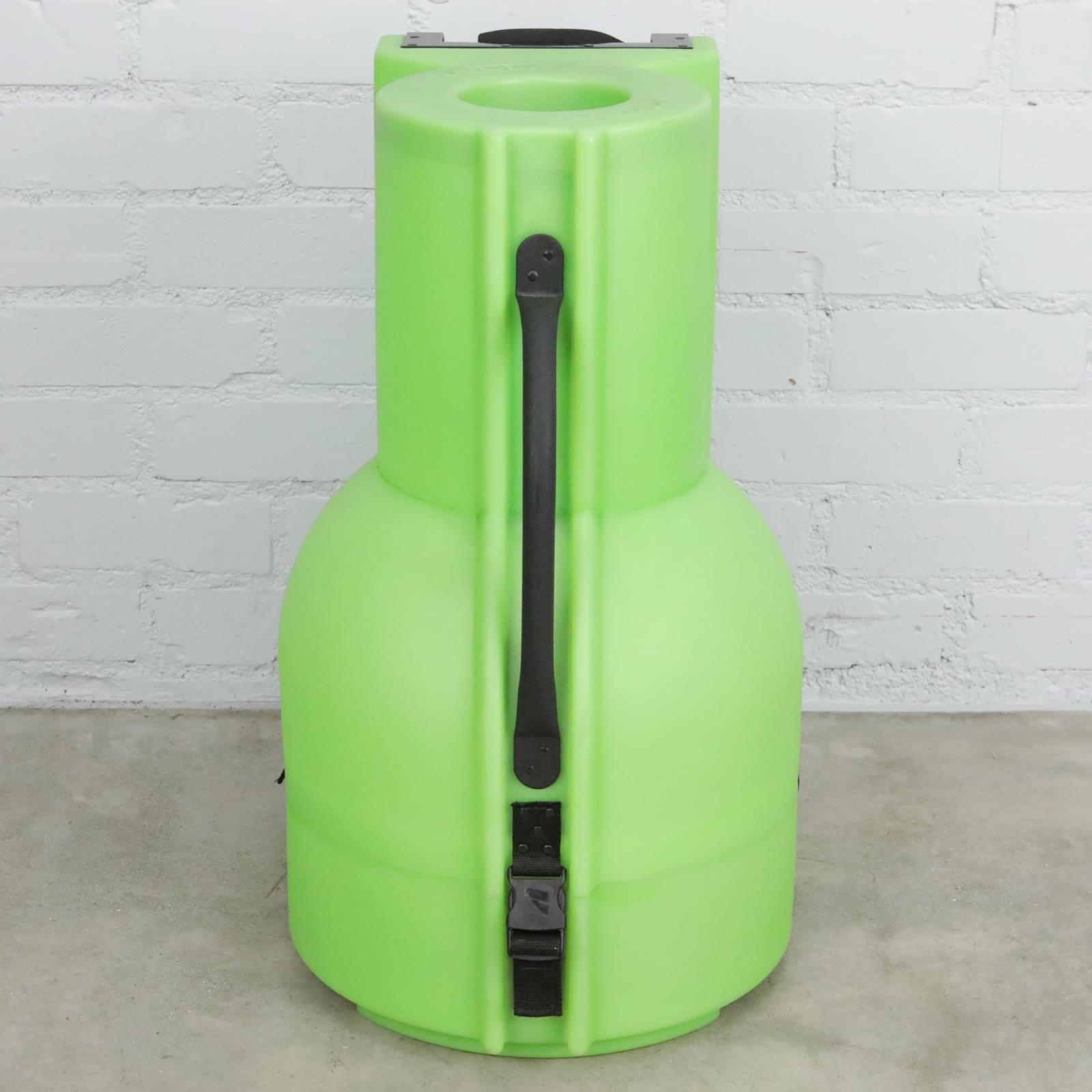 "Humes & Berg Enduro Pro 14"" Djembe Tilt-N-Pull Hard Shell Case Lime Green #41039"