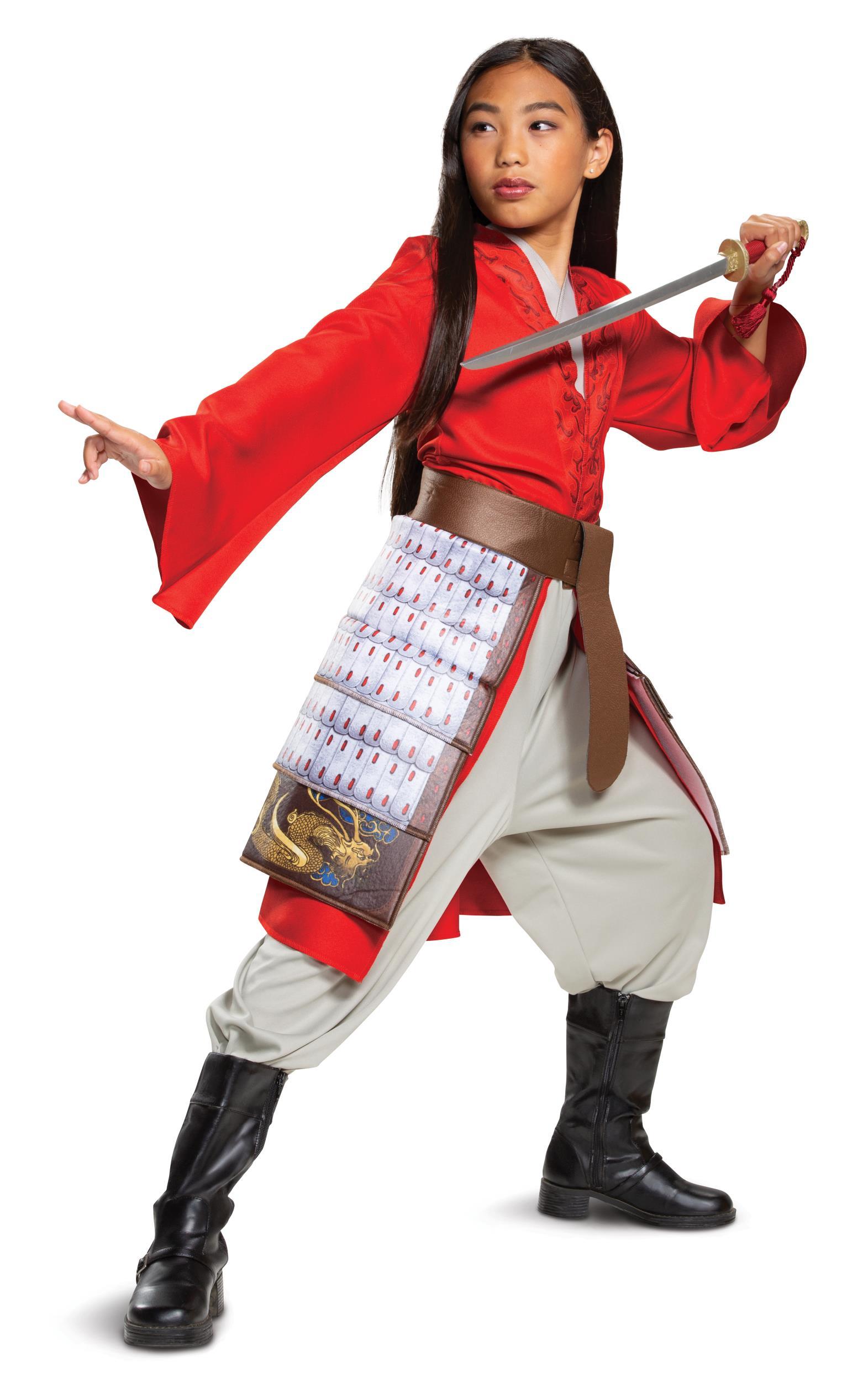 Mulan Hero Red Girls Princess Dress Disney Toddler Costume 3t 4t Ebay