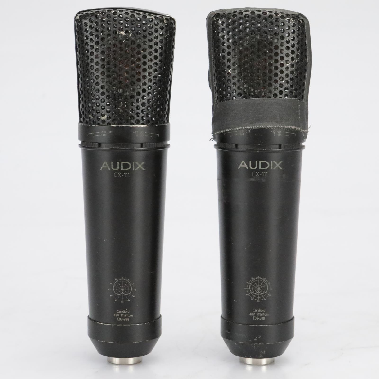 2 Audix CX-111 Large-Diaphragm Condenser Microphones Stereo-Pair w/Case #41161