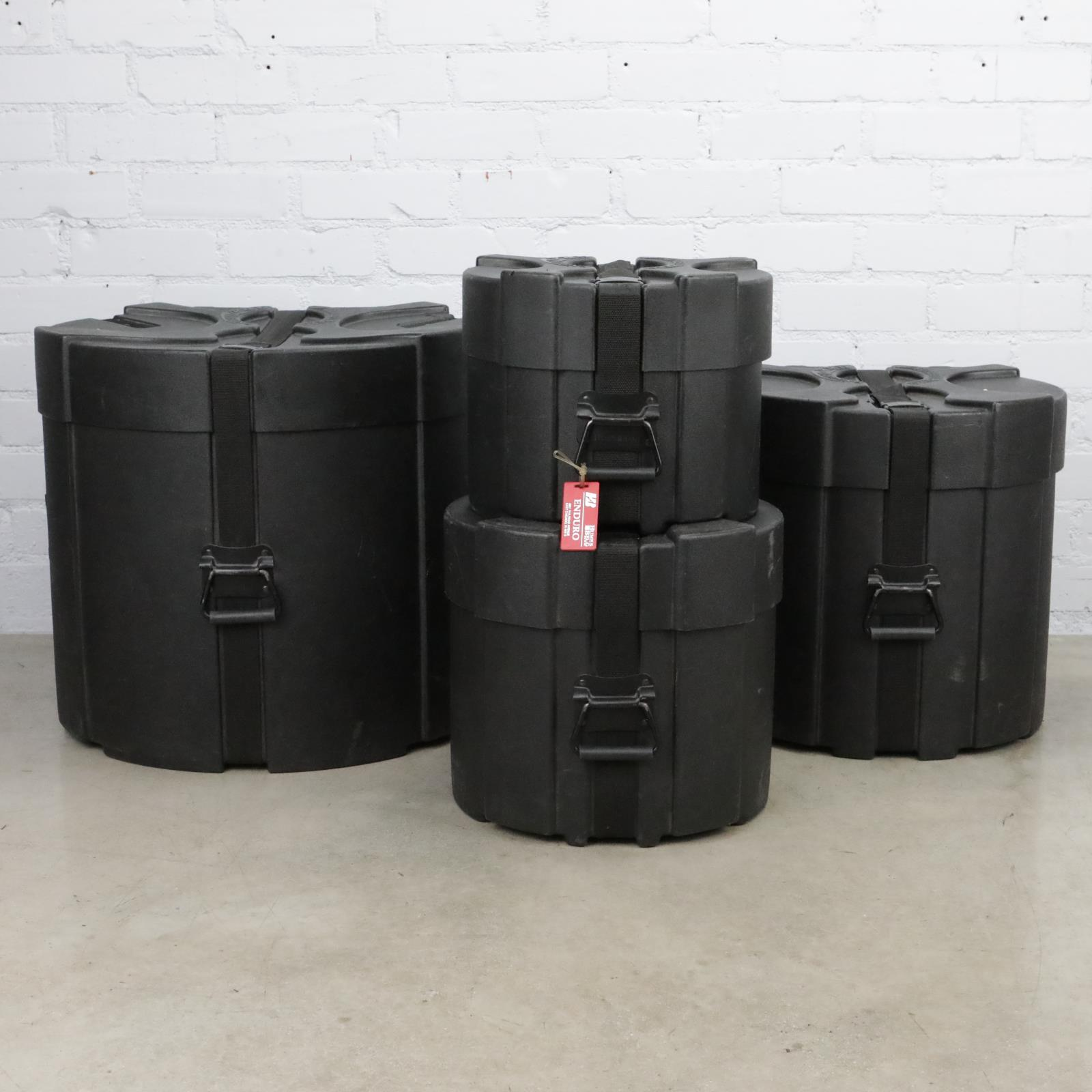 "Humes & Berg Enduro Pro Foam Lined 12"" 14"" 16"" 22"" Drum Hard Shell Cases #41227"