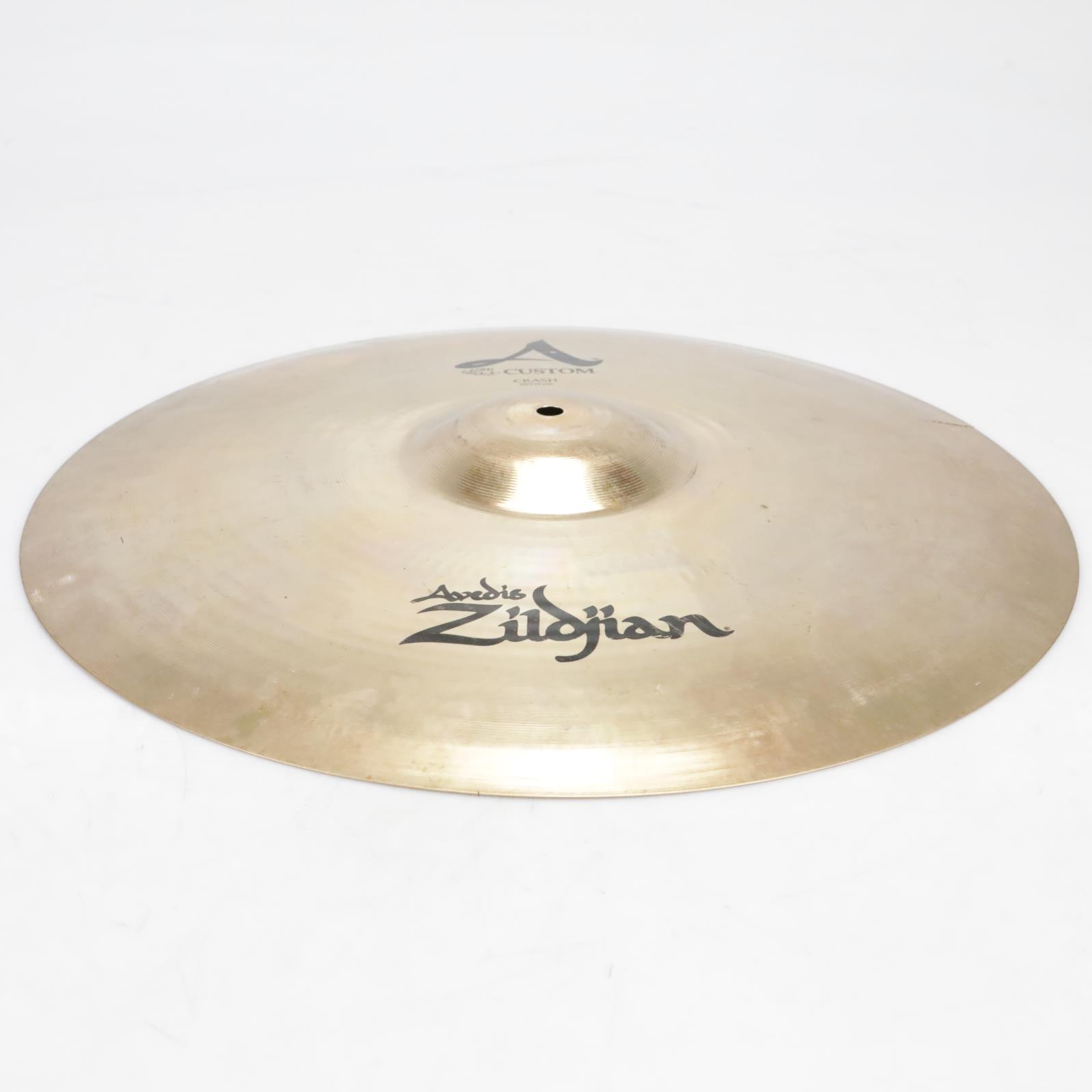 "20"" Zildjian A Custom Crash Cymbal Video! Has Crack #41272"