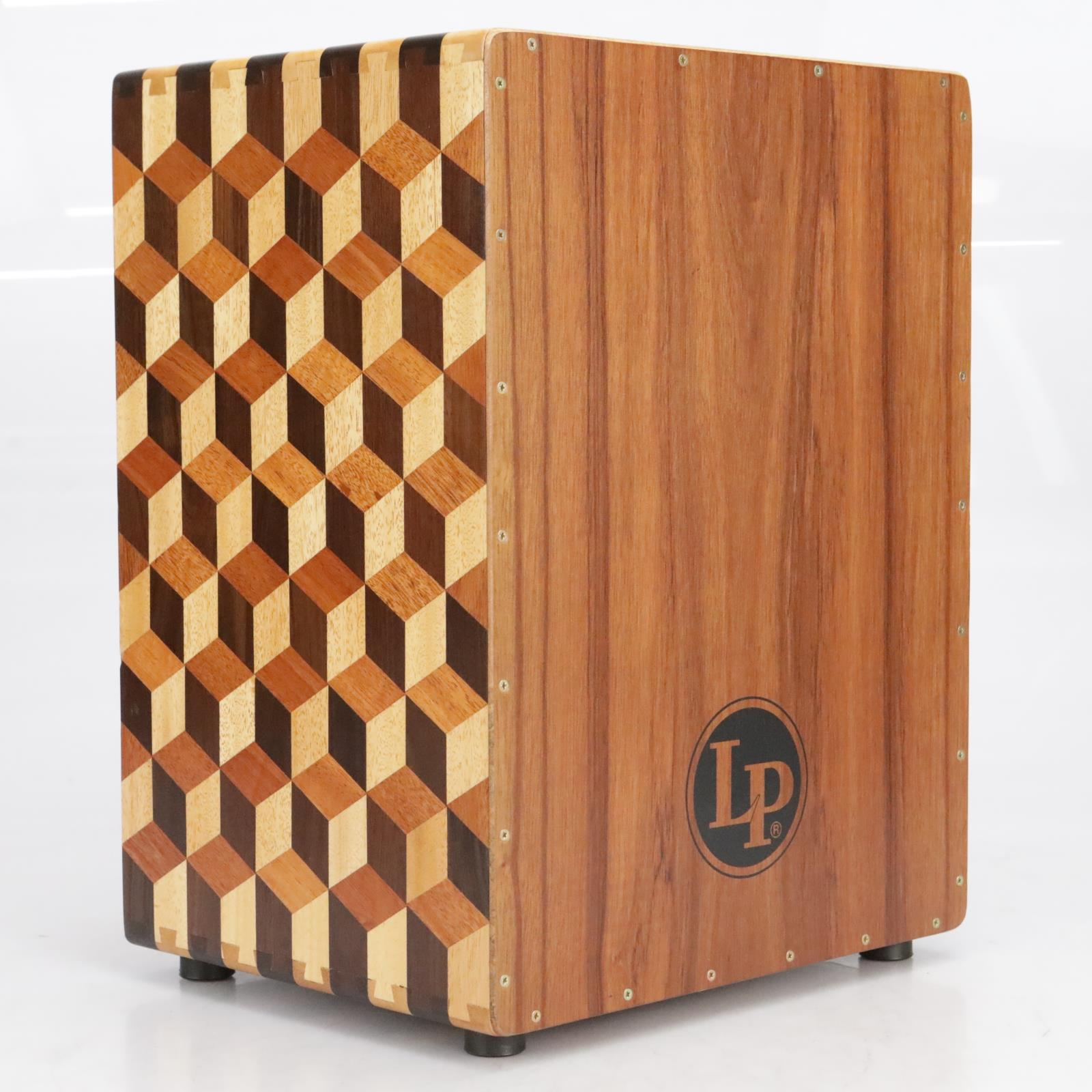 LP LP1423 3D Cube String Cajon Hand Crafted Percussion Drum w/ Gig Bag #41165