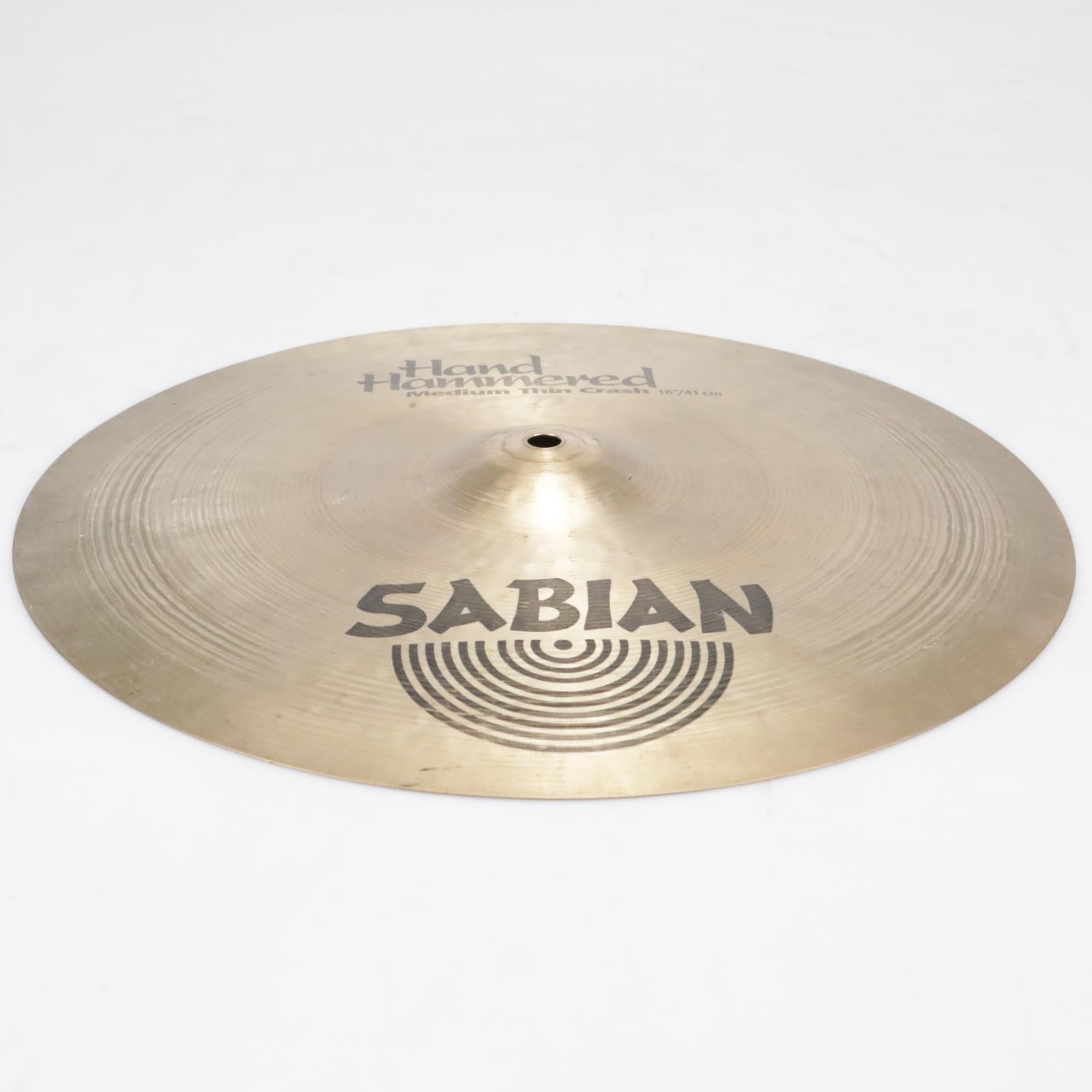 "16"" Sabian HH Hand-Hammered Medium Thin Crash Cymbal Video! #41289"