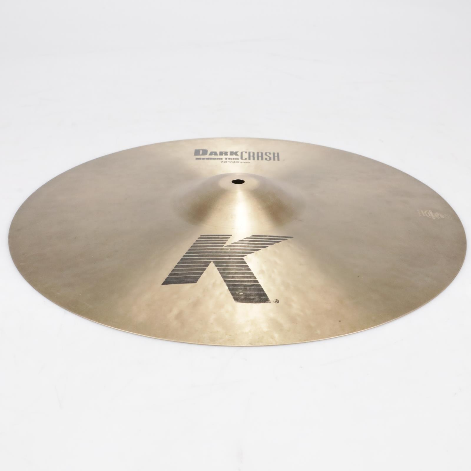 "18"" Zildjian K0915 K Dark Medium Thin Crash Cymbal Video! #41296"