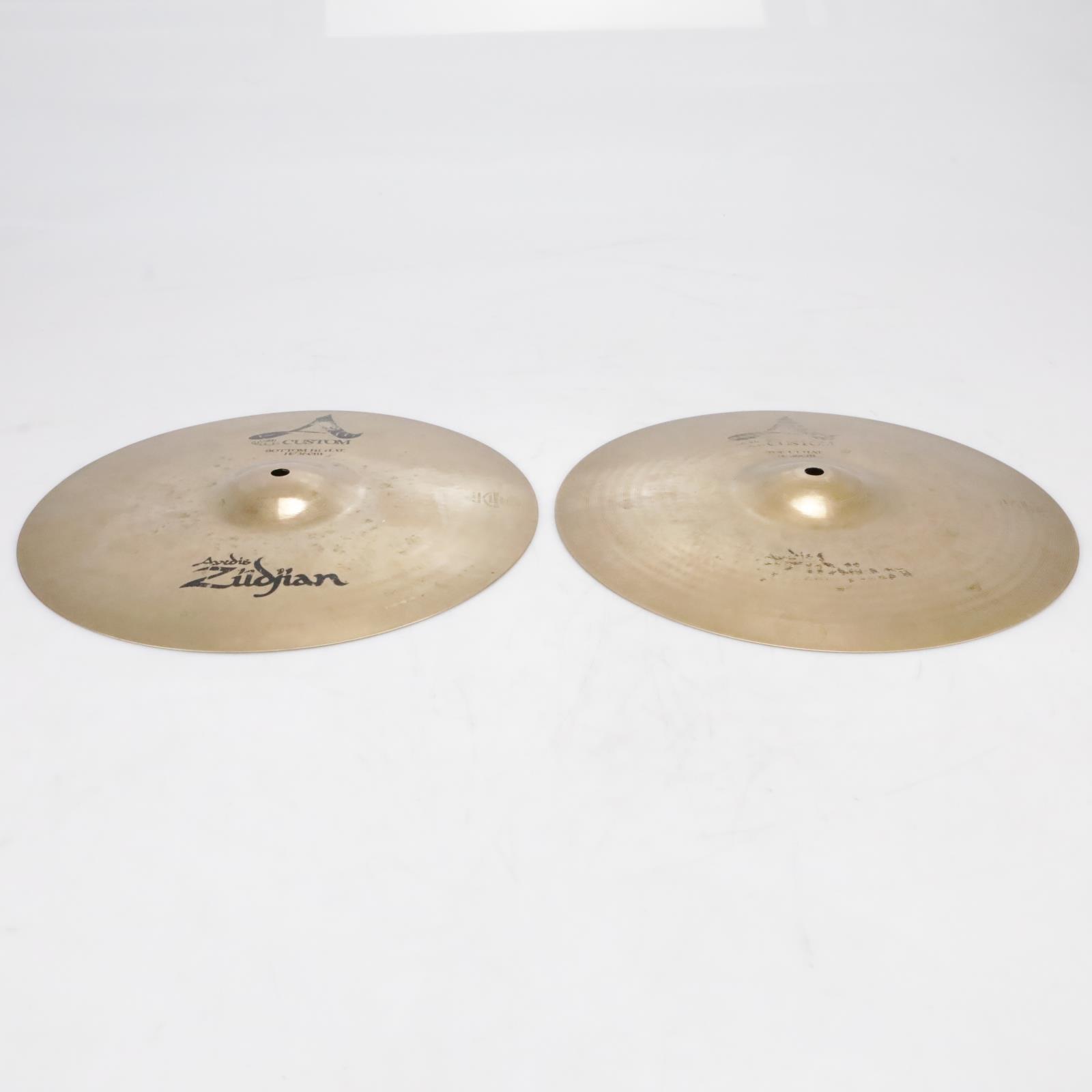 """Zildjian A Custom A20510 14""""/36cm Hi-Hats Top & Bottom Video! #41322"""