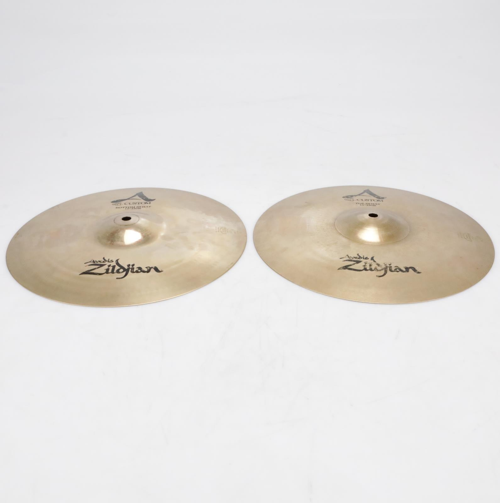 "Zildjian A Custom 13""/33cm Hi-Hats Top & Bottom Video! #41323"