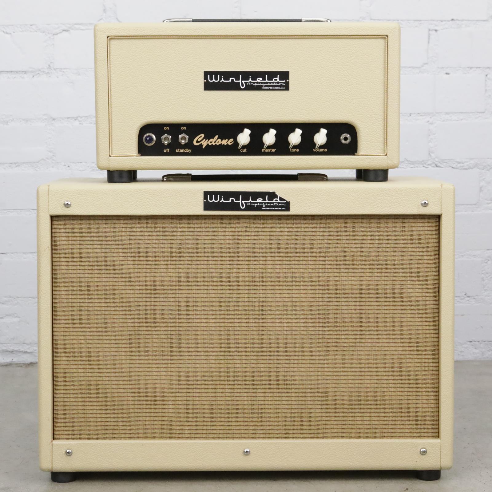 Winfield Cyclone Amplifier Head w/ 2x10 Speaker Cabinet Blonde #41579