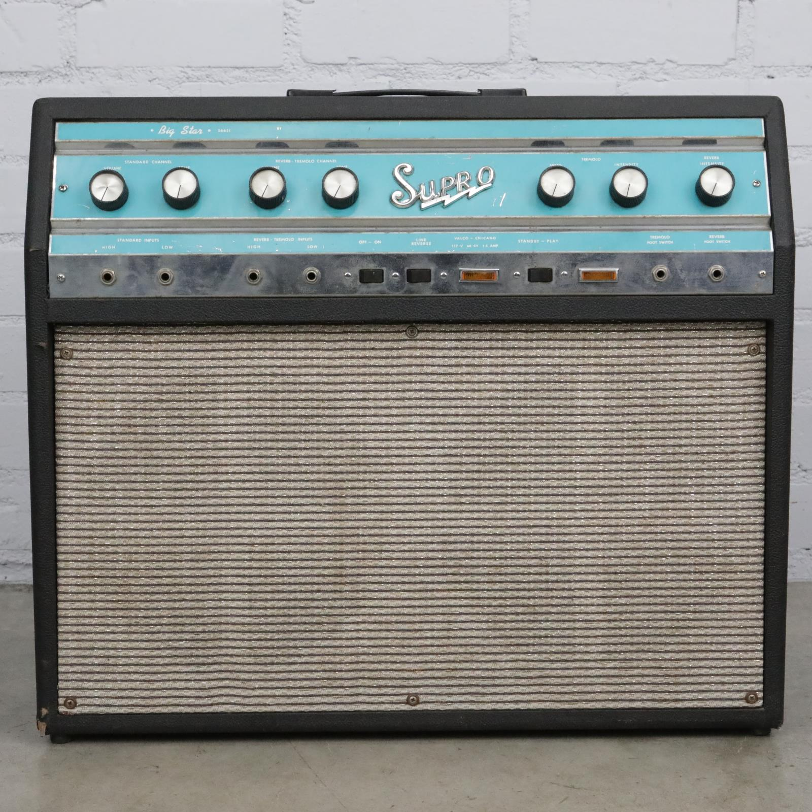 1960s Supro Big Star S6651 Tube Guitar Combo Amplifier #41591